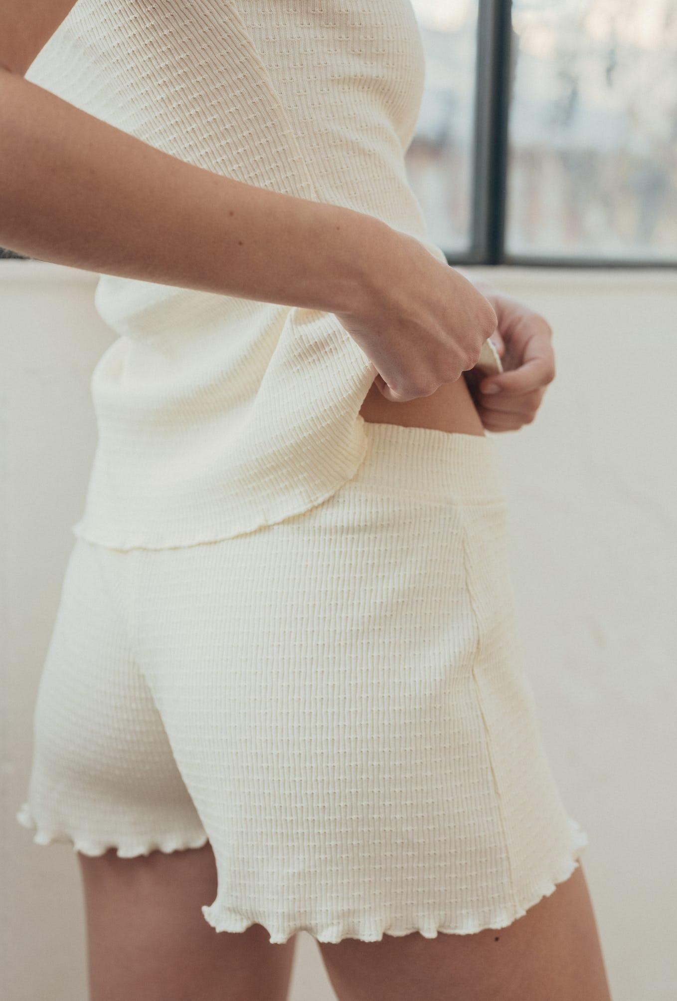 Histoire de corps vanille shorts