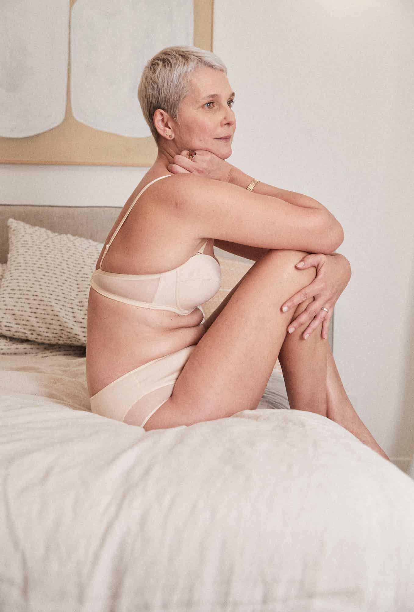 Lingerie set Histoire de femmes pink nude bandeau et culotte mi-haute