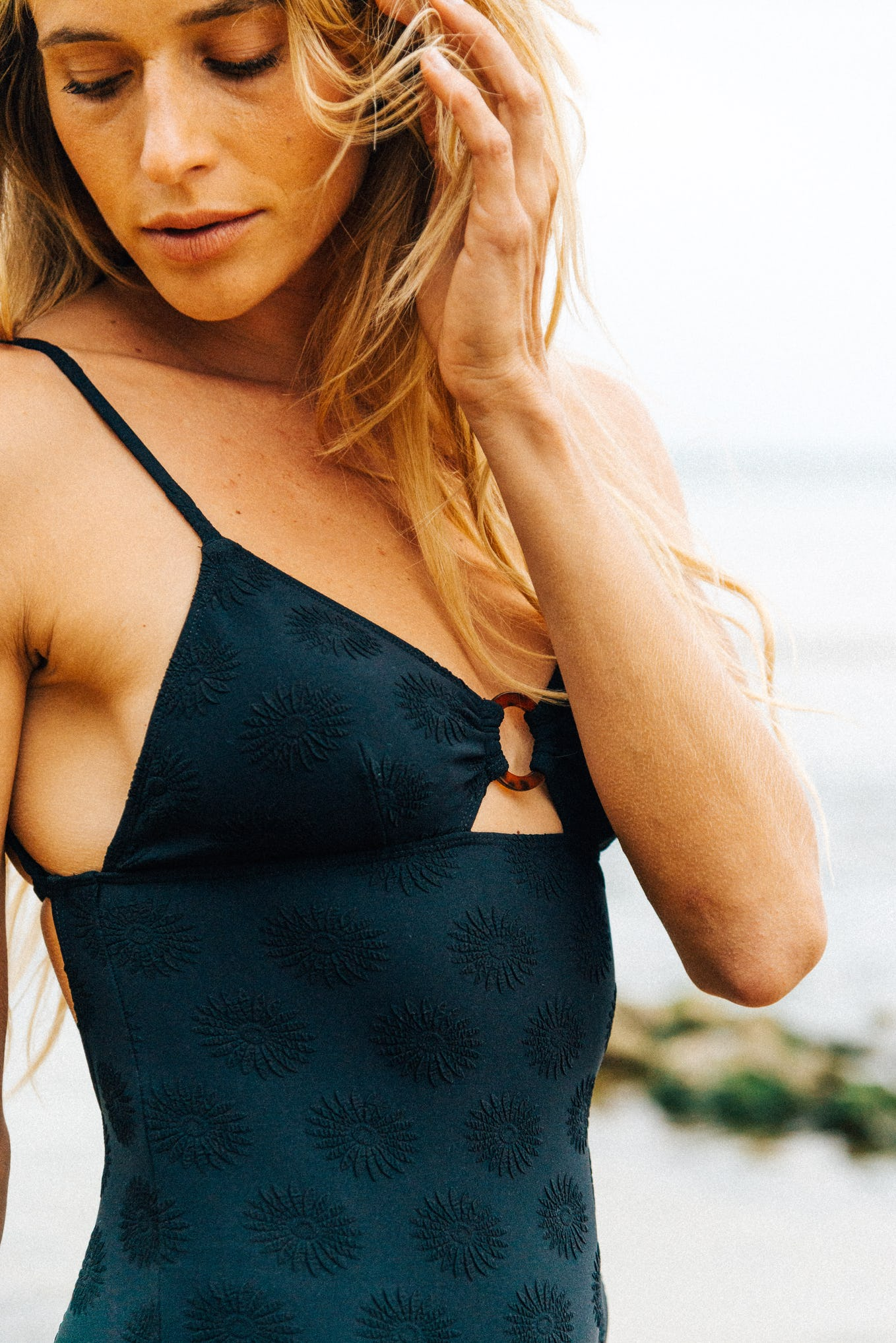 One piece swimsuit Horizons doux in black