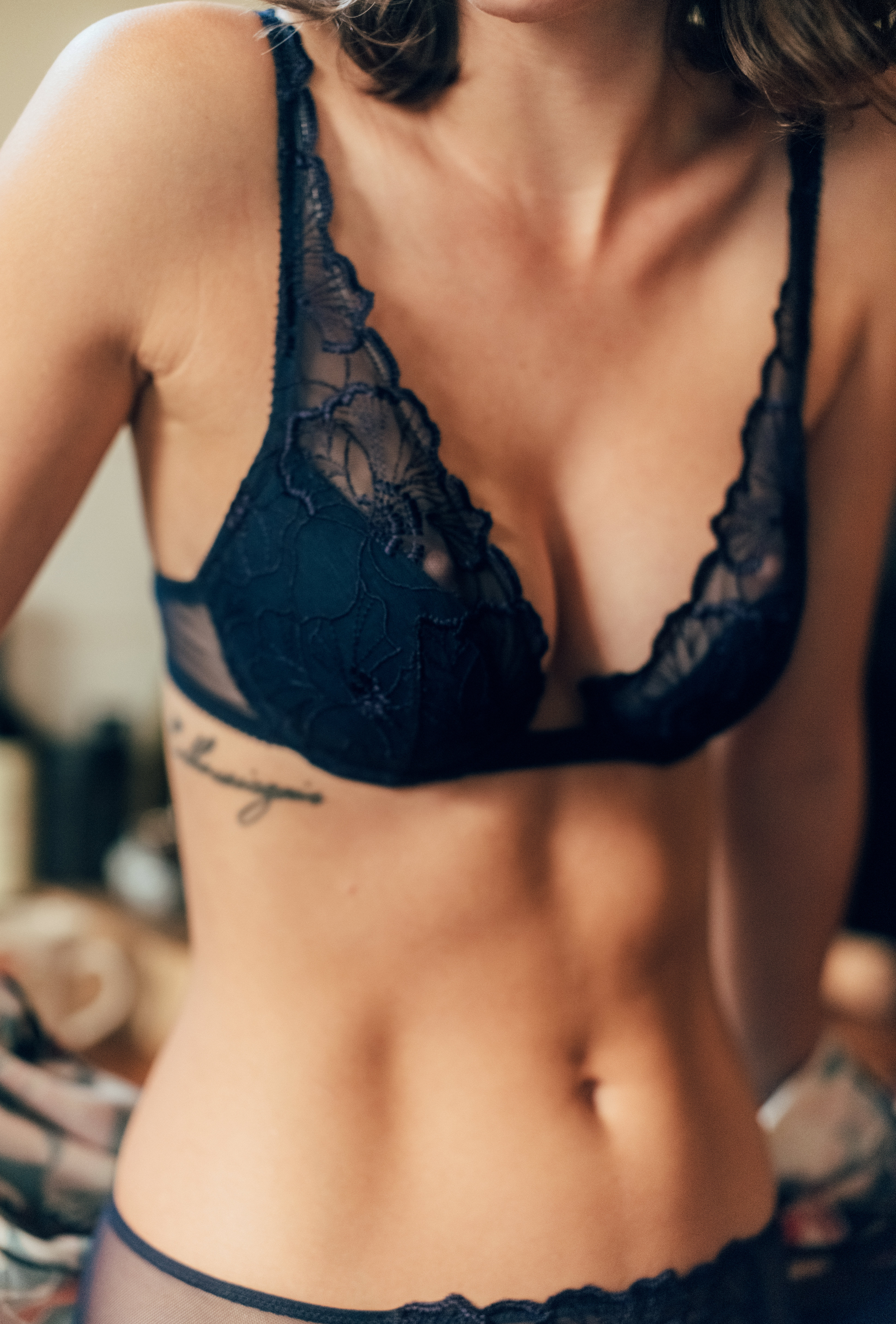 Push-up bra Source d'amour in navy blue