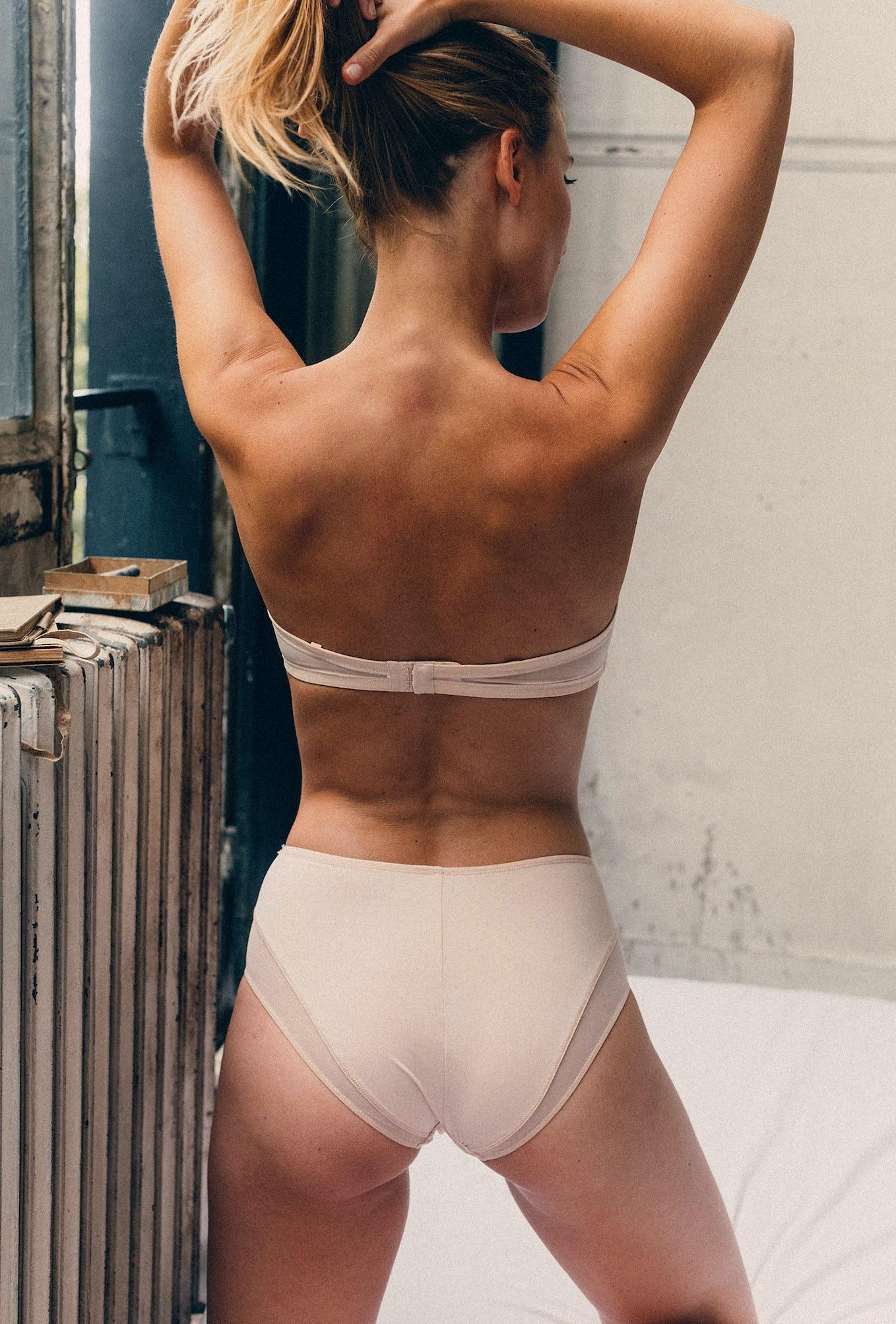 High-waist briefs Histoire de femmes in powdery pink