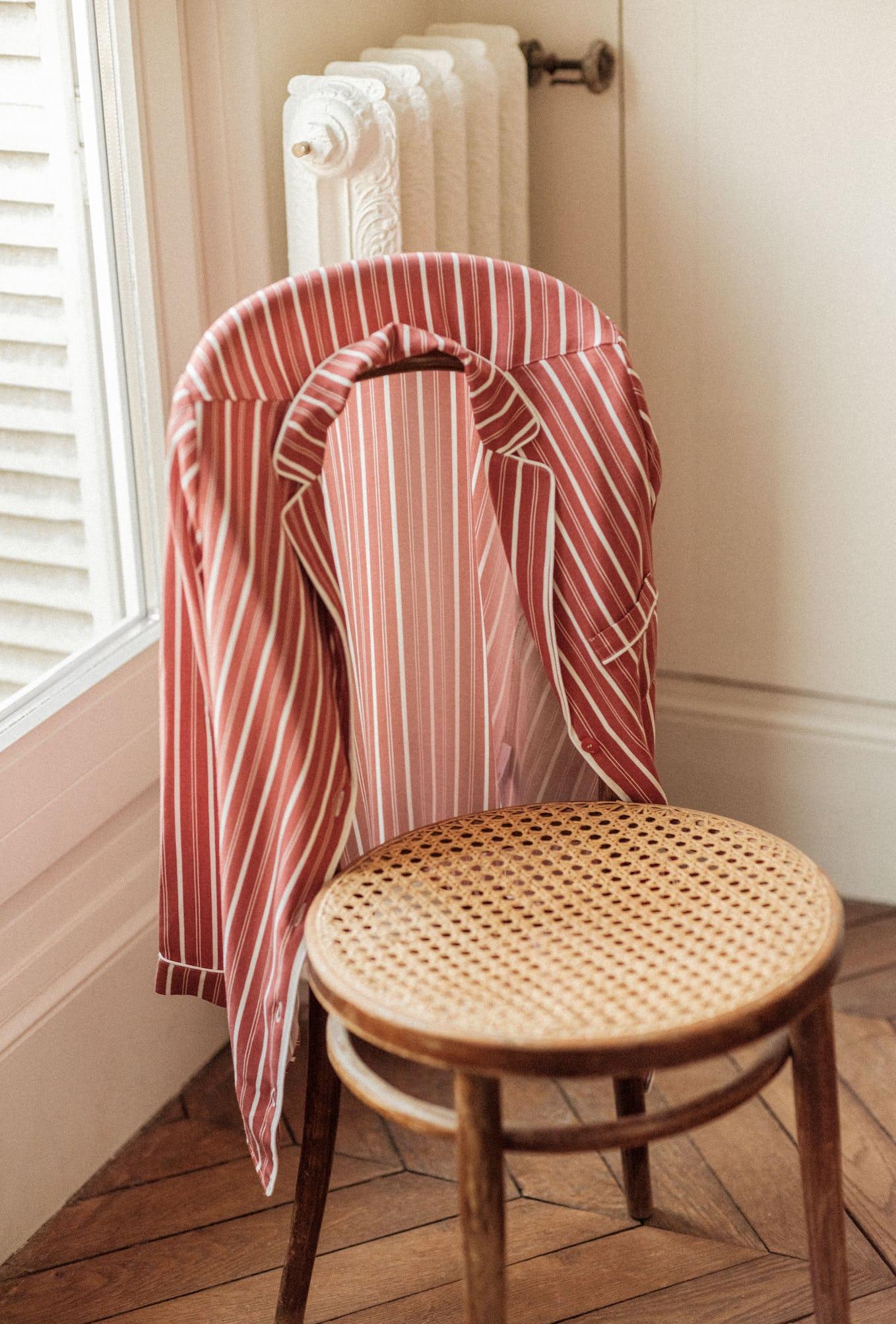 Songe de nuit shirt with Chérie stripes