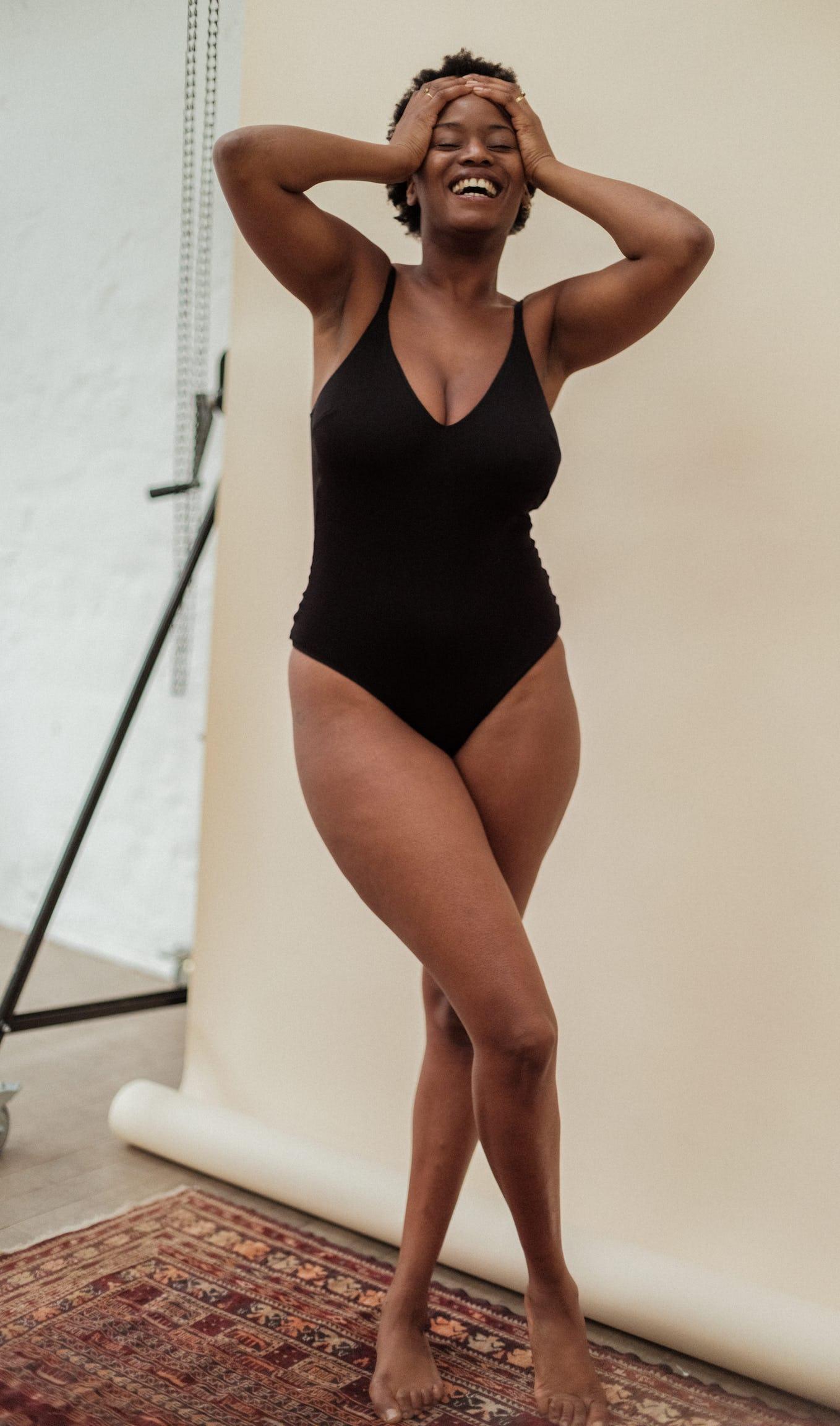 Bodysuit à fleur de peau black