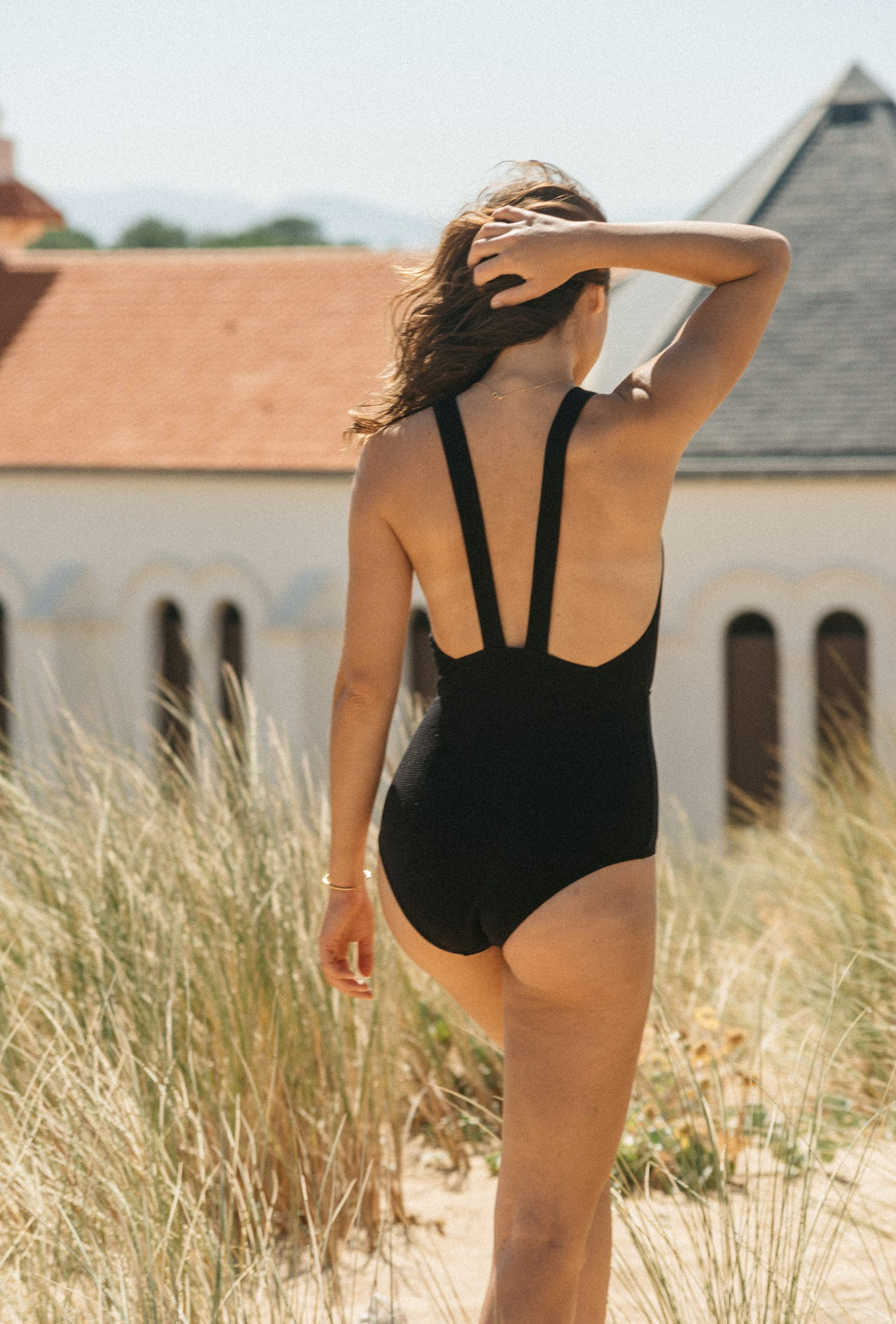 One piece swimsuit Paradis terrestre in black