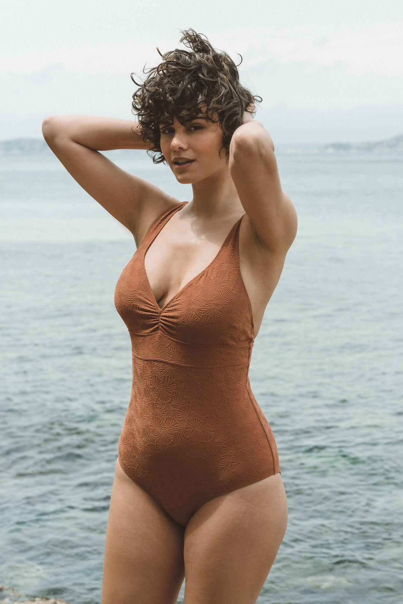 Swimsuit Baiser coquillage coffee