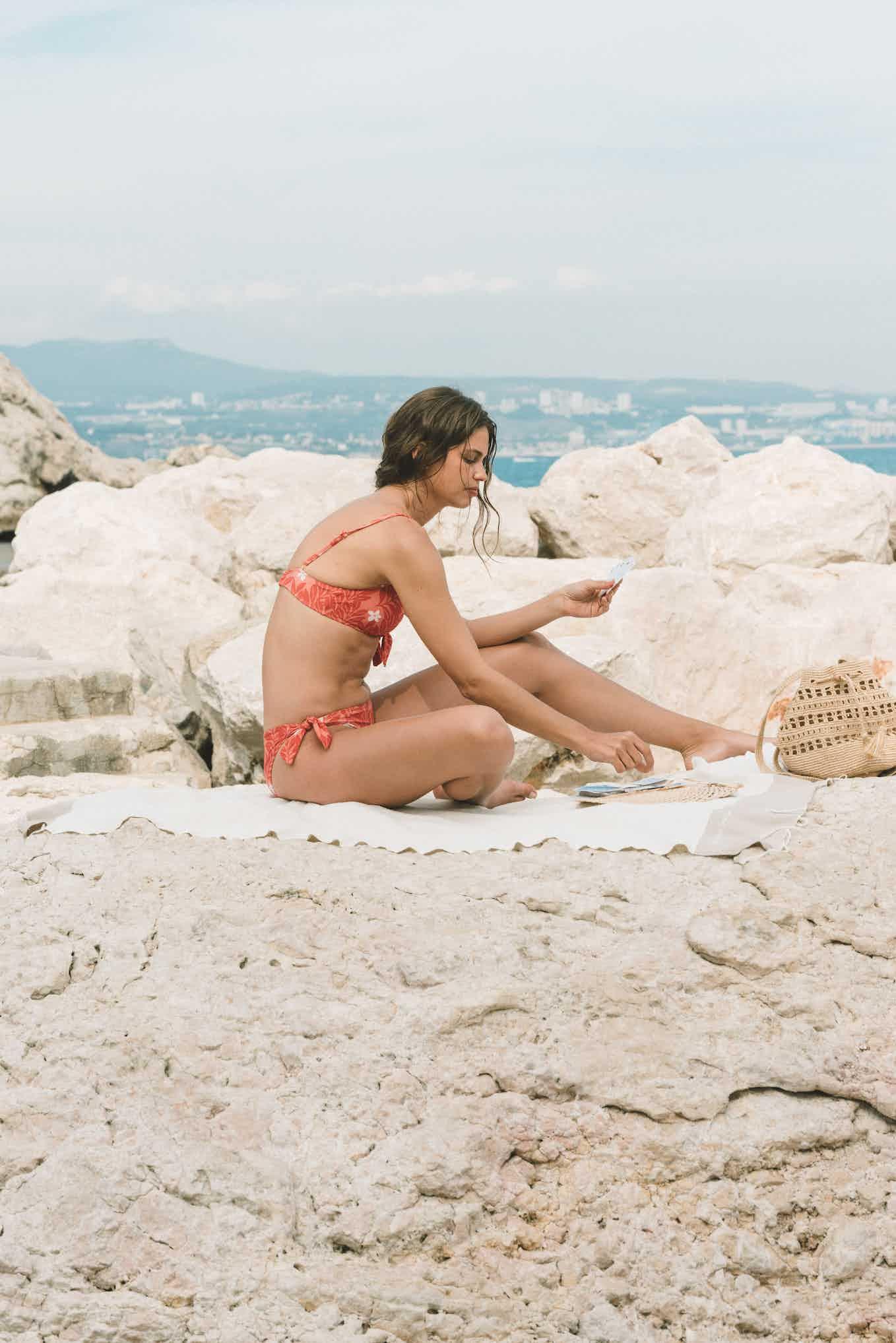 Swimsuit Murmure des vagues Mediterranée print