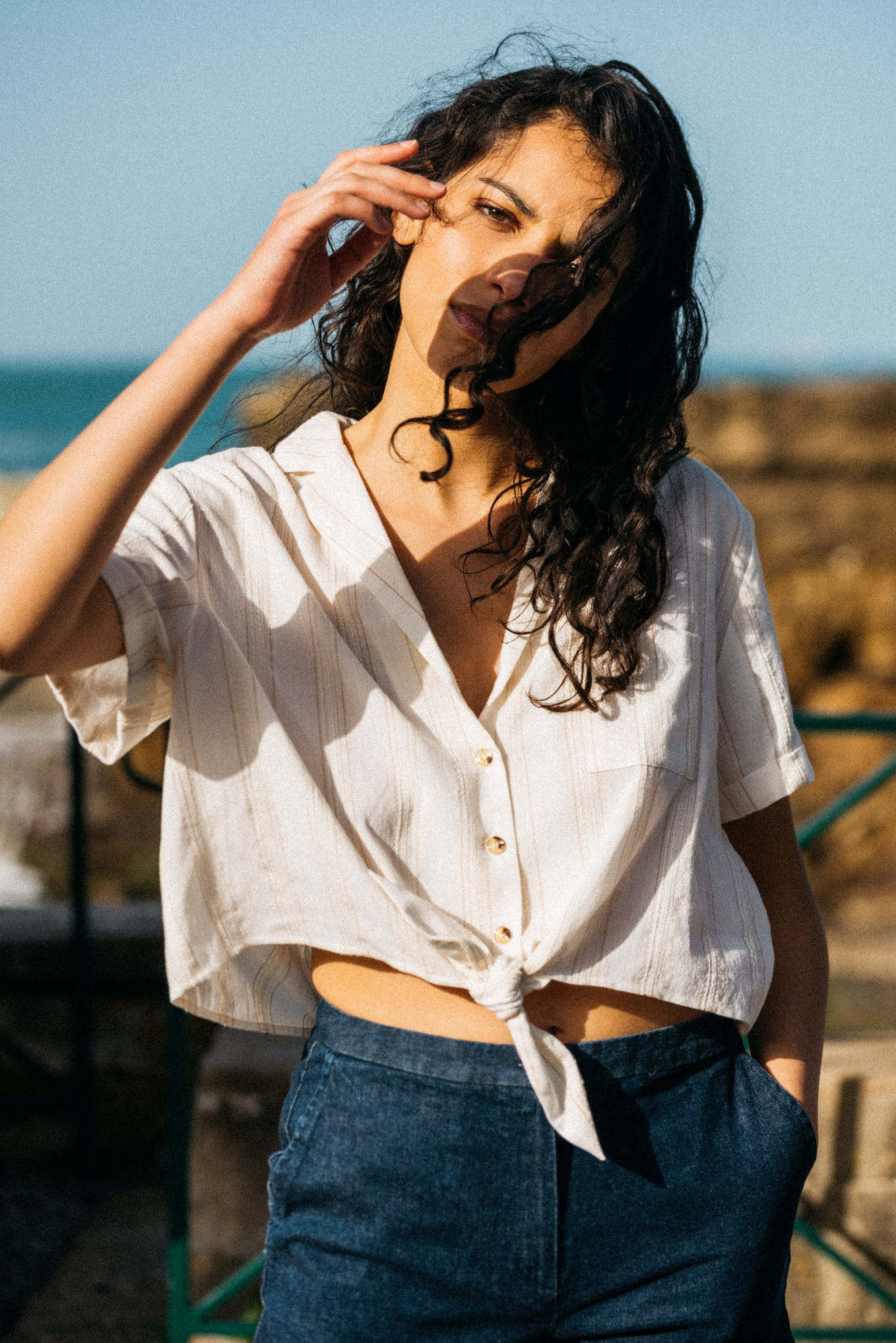 Shirt Doux refuge with short sleeves