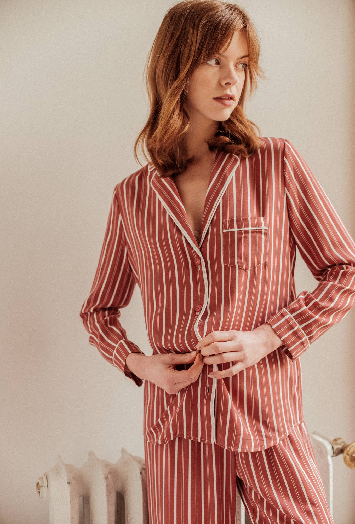 Homewear set Songe de nuit in Chérie stripes