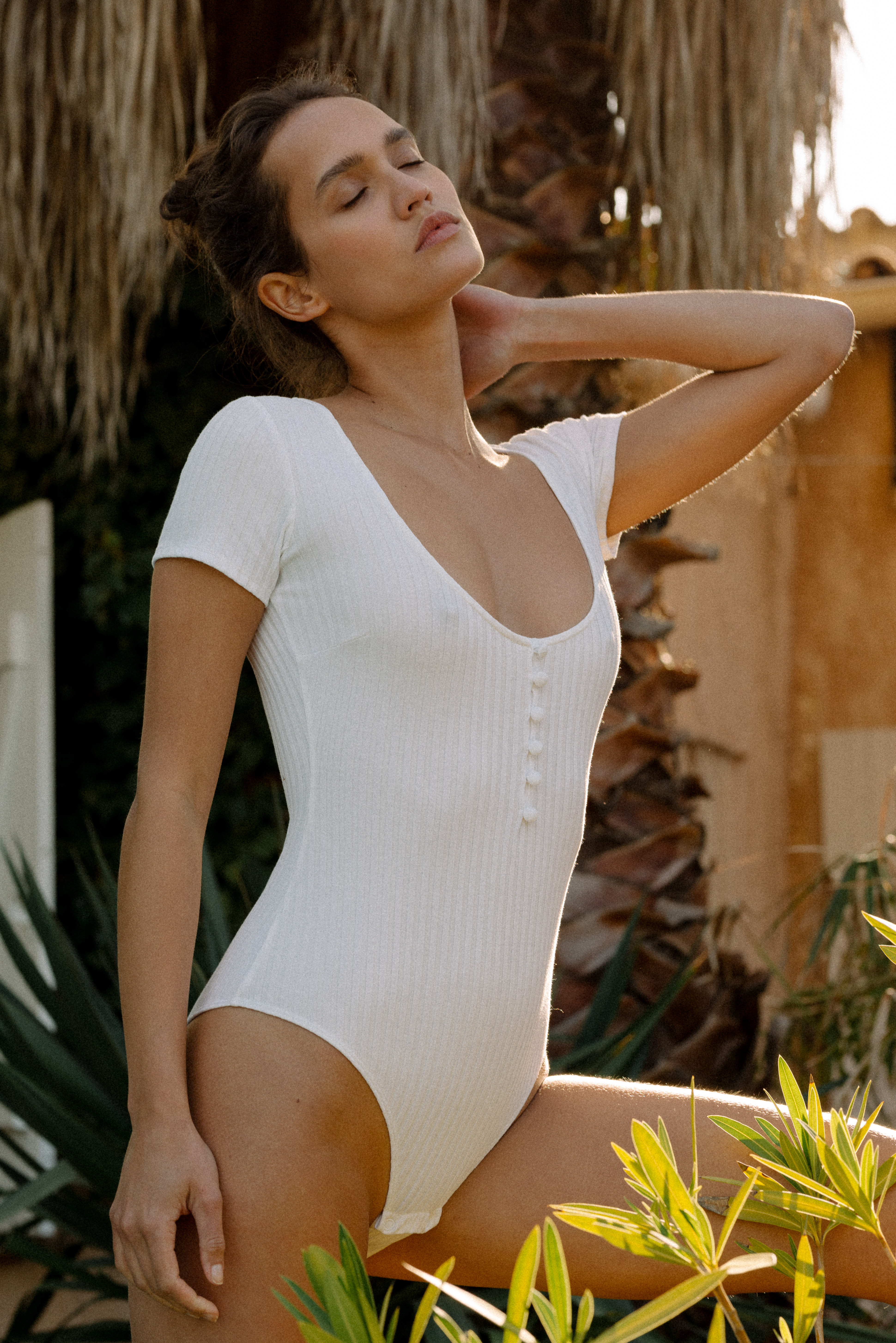 Gayana bodysuit in ivory