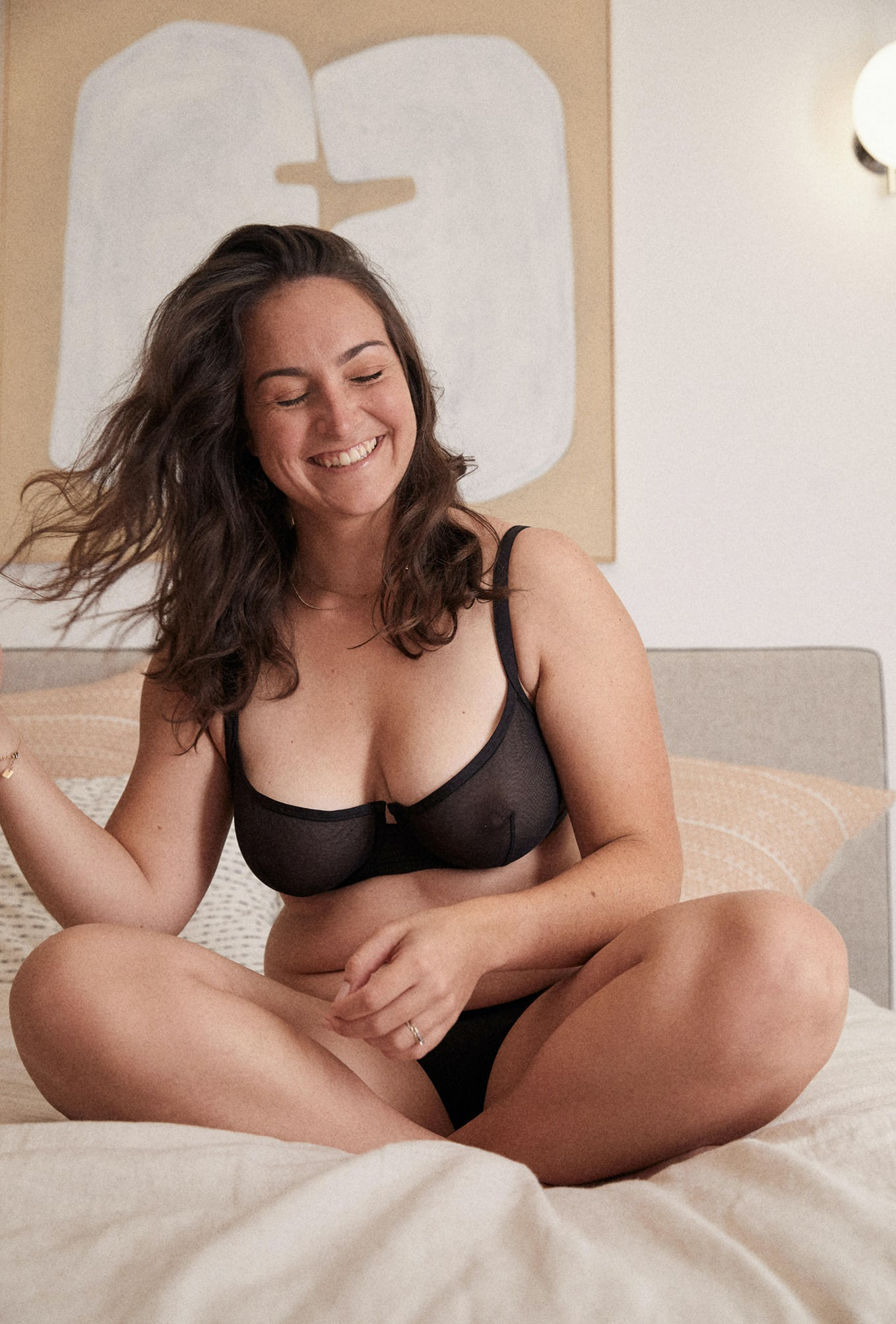 Half-cup bra Histoire de femmes in black