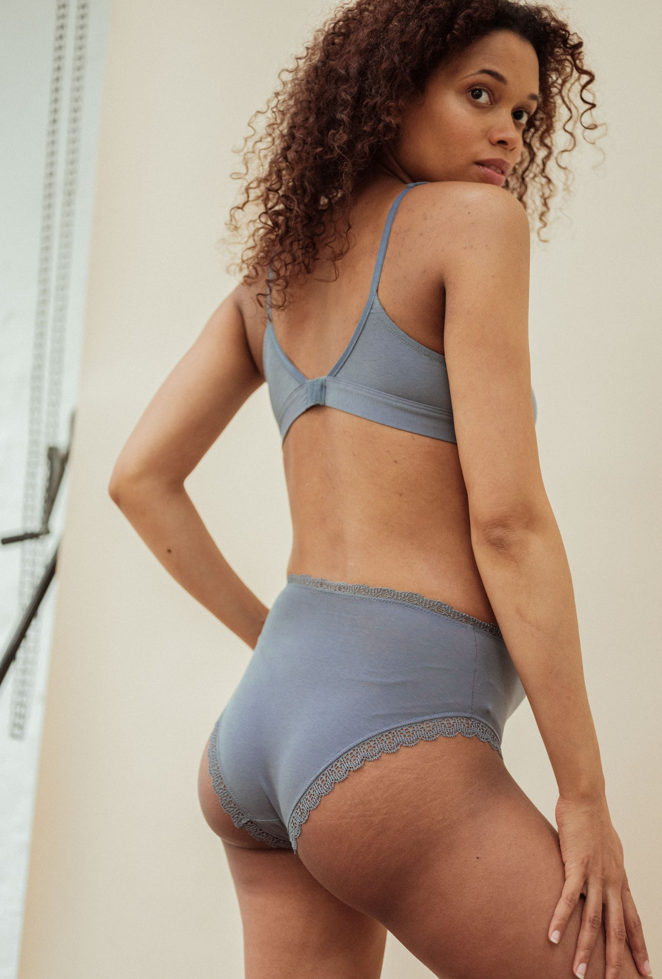 High waisted briefs Une chanson douce in storm grey