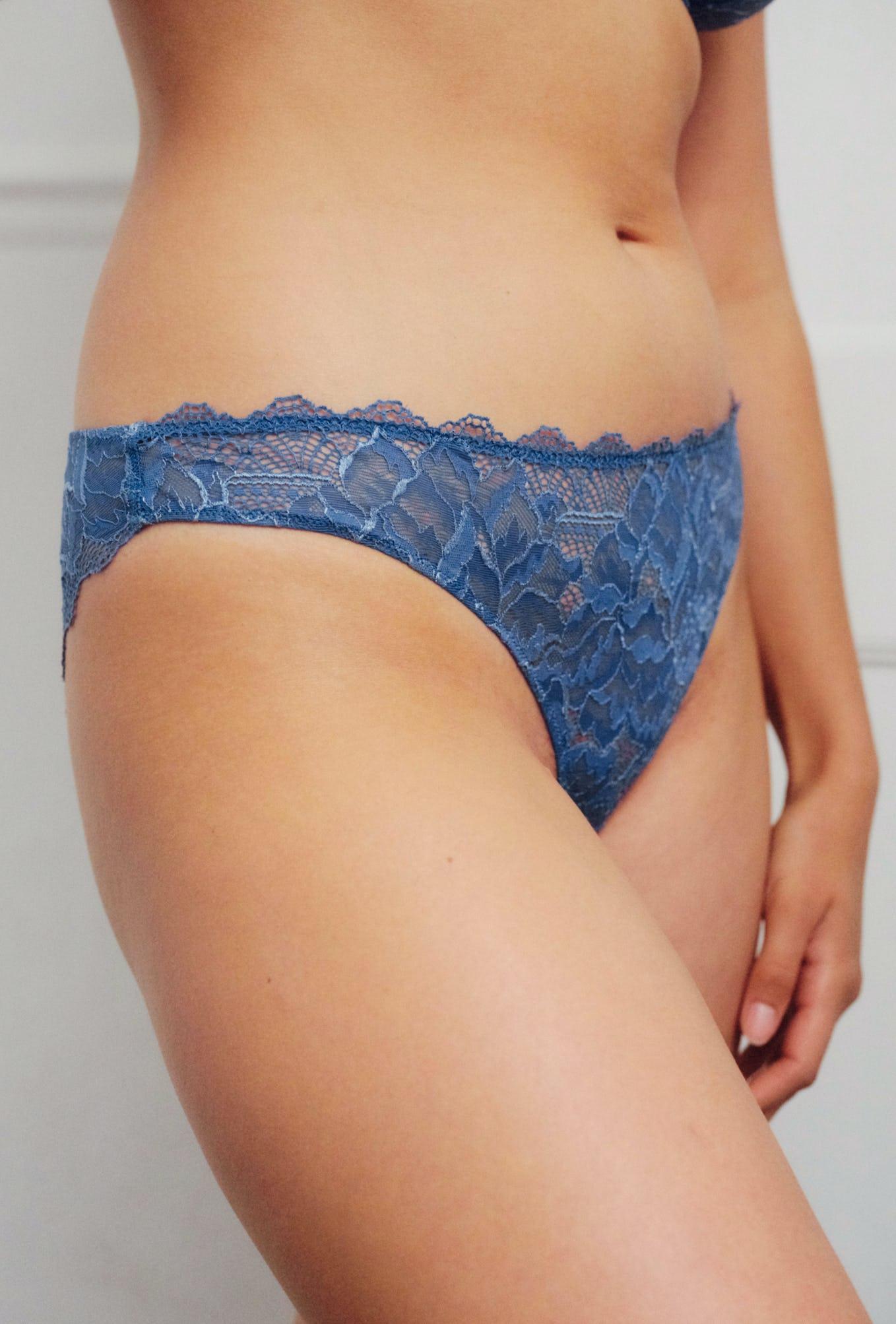 culotte chassé-croisé bleu outremer