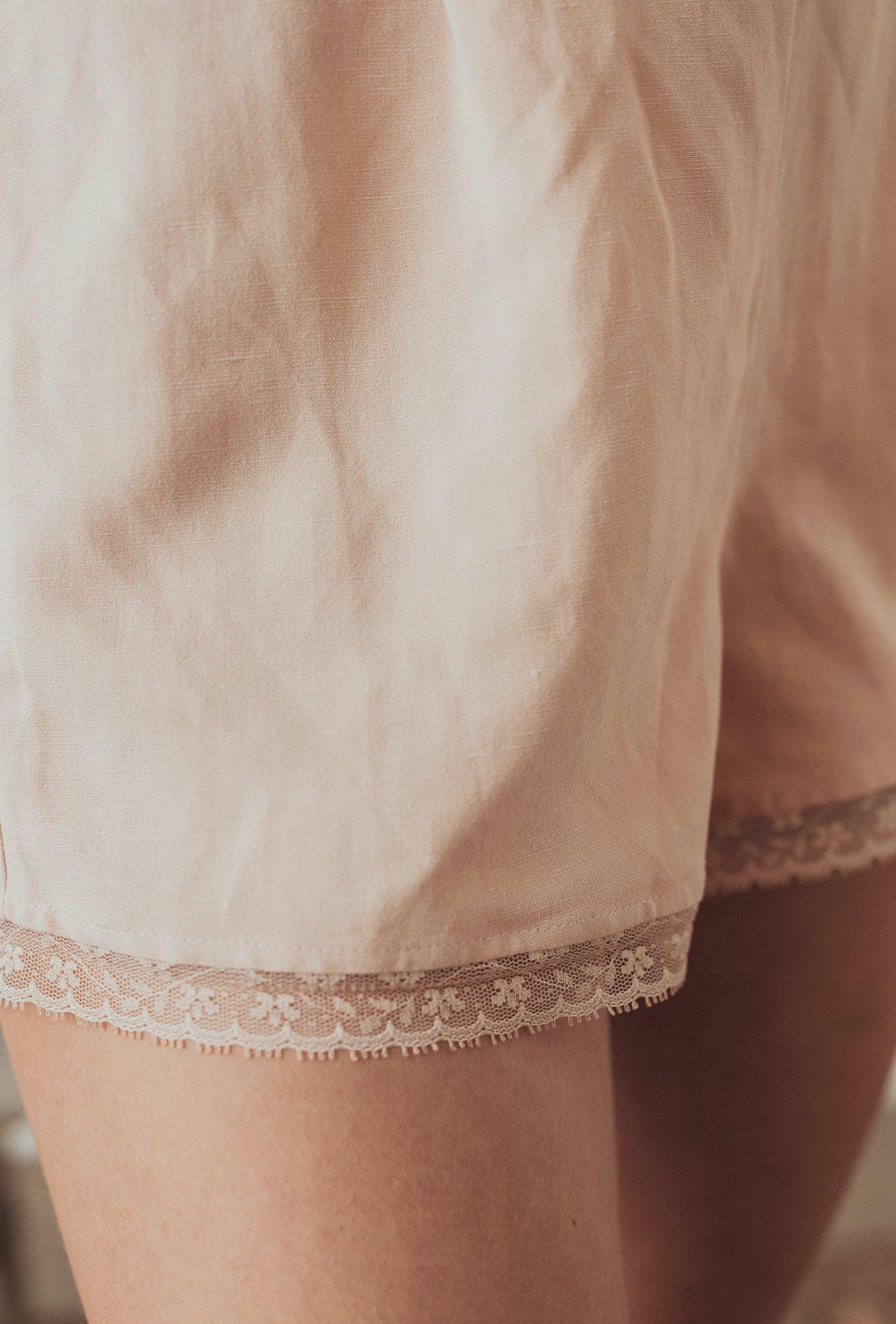 Shorts l'ombre du tilleul rose