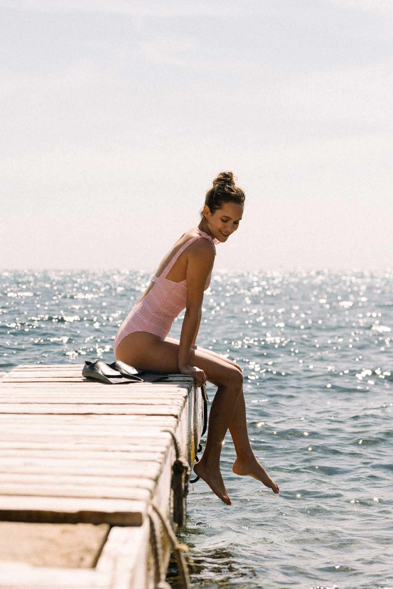 One piece swimsuit Coucher de soleil