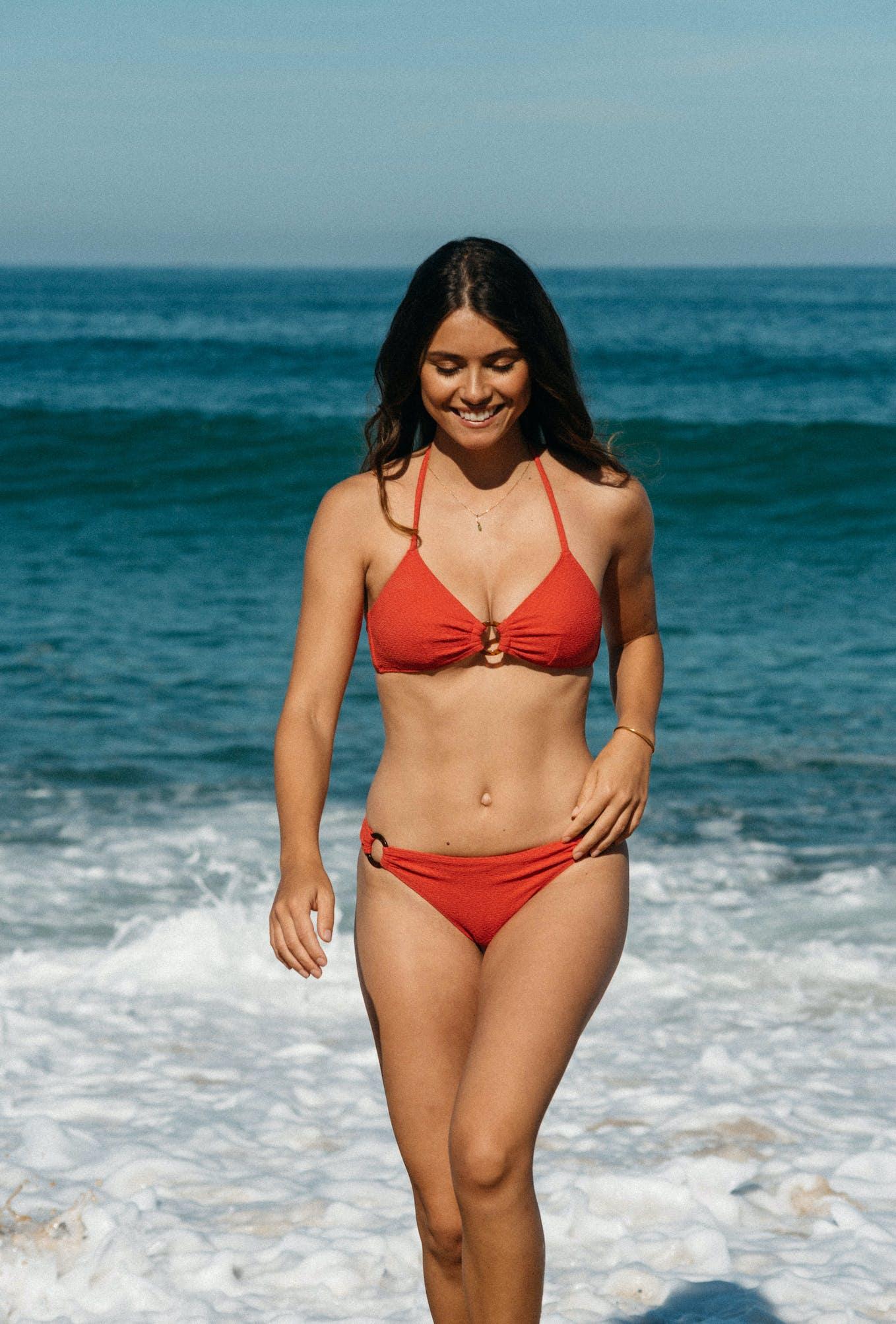 2-piece swimsuit Horizon doux in coral