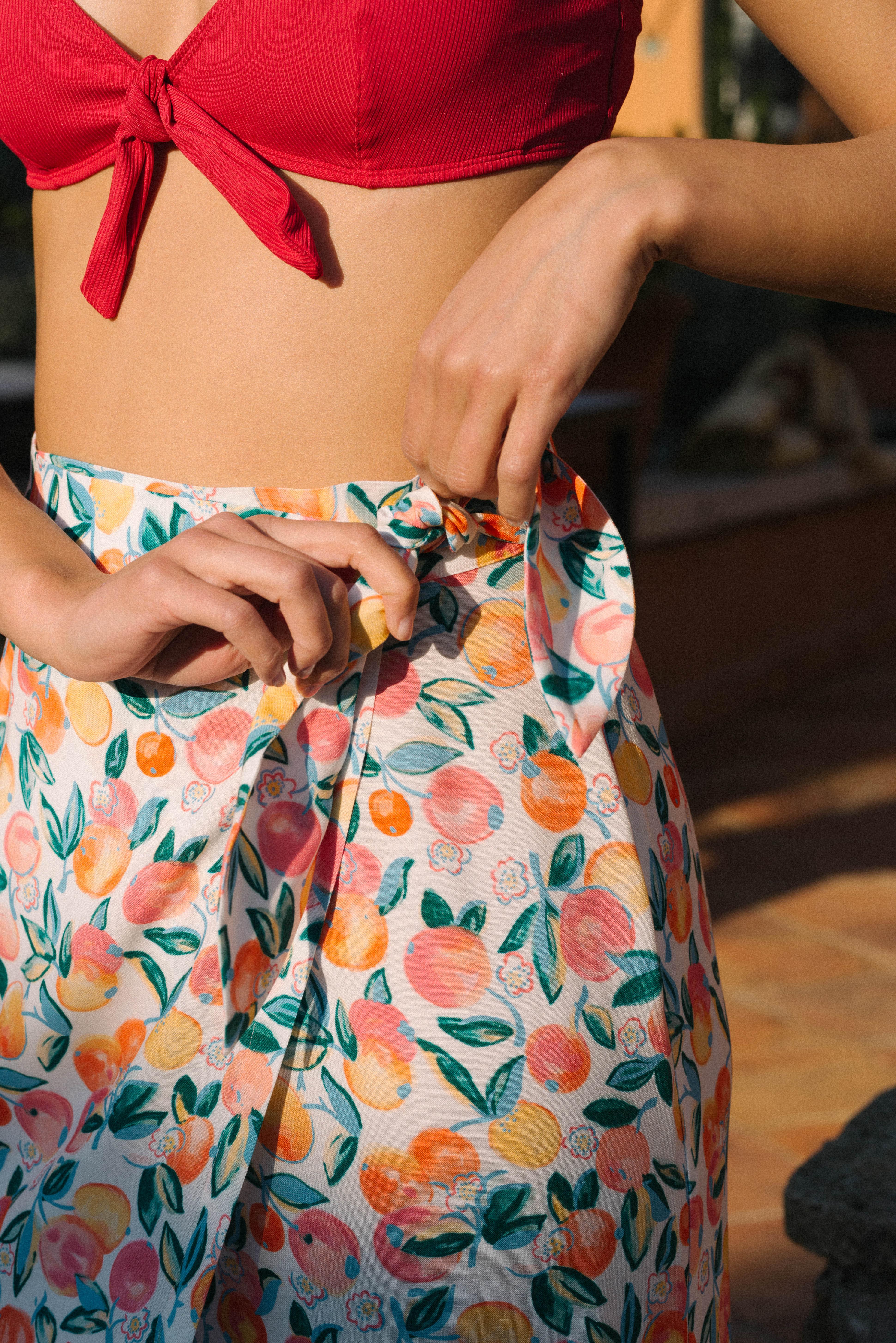 Skirt Voyage légerTutti frutti print