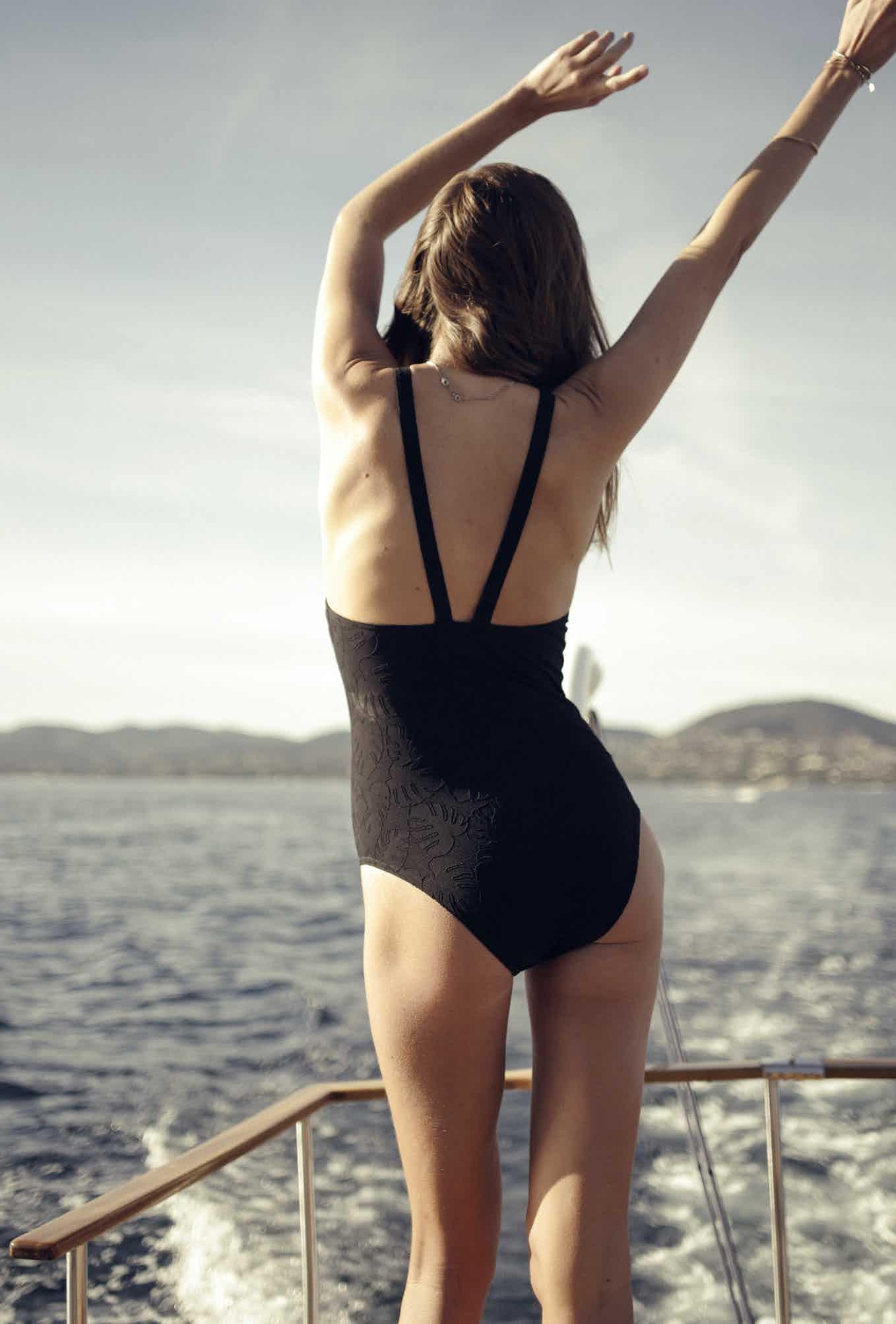Swimsuit Les soirs d'été in black