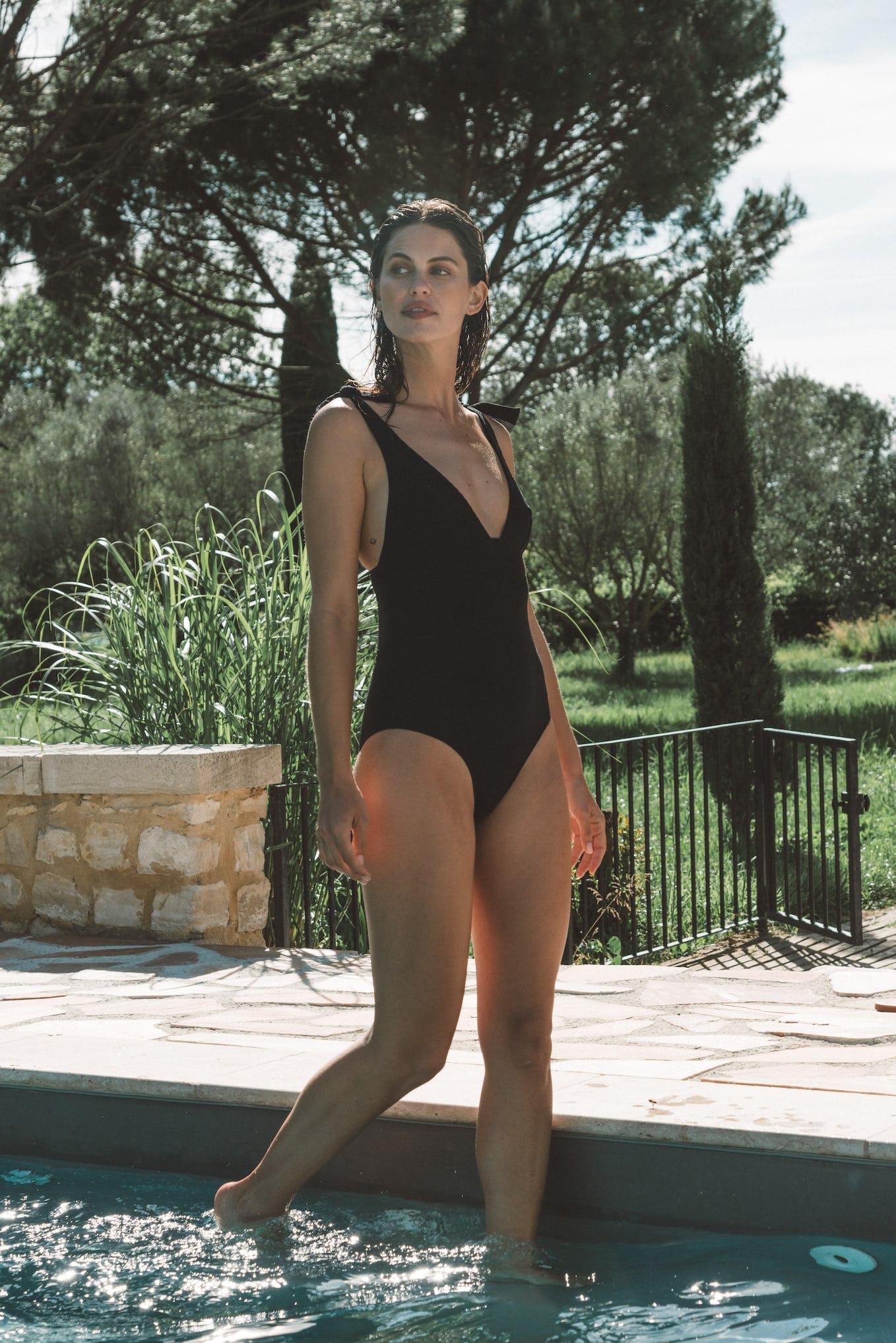 Swimsuit Les heures d'été in black
