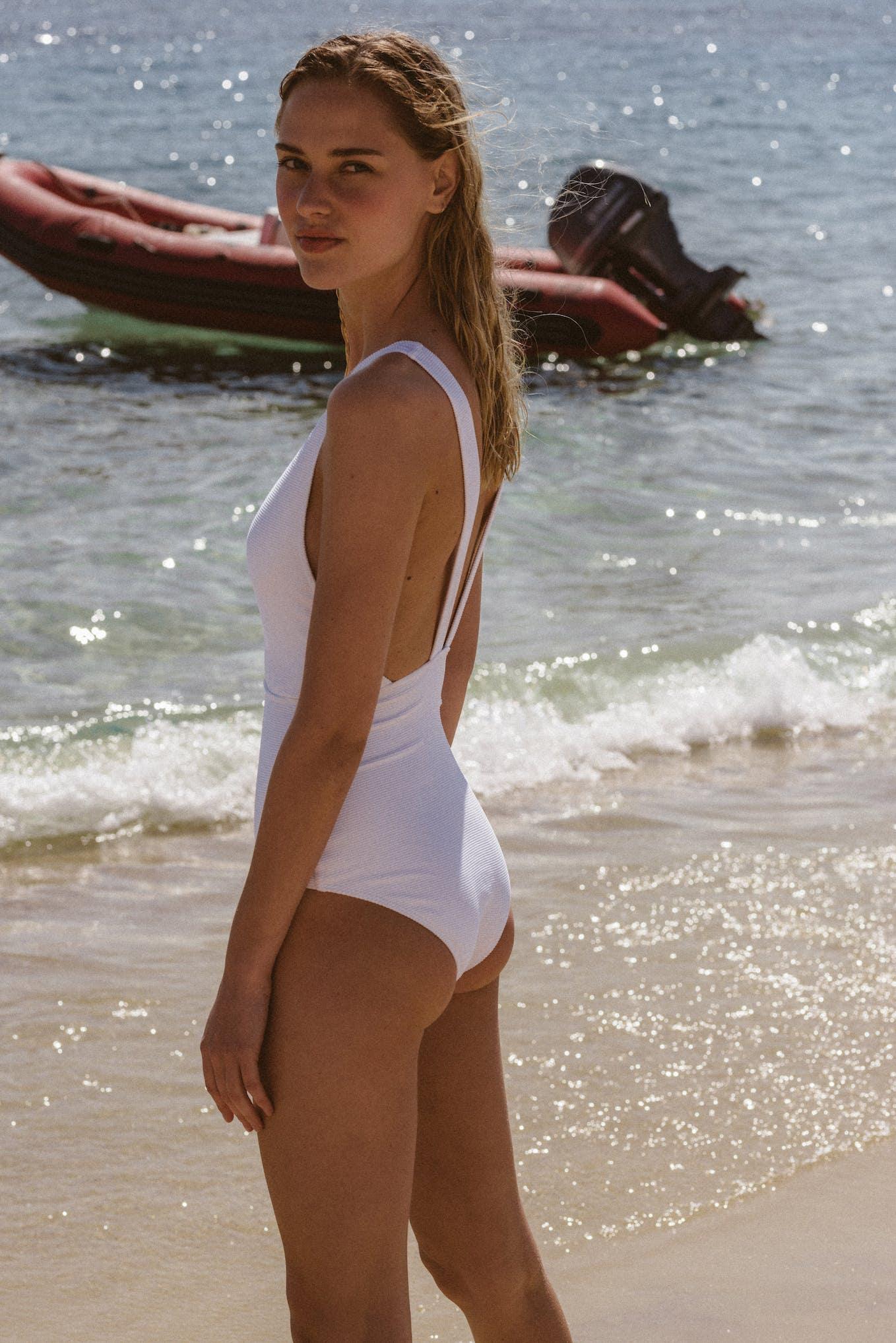 Swimsuit Paradis terrestre white