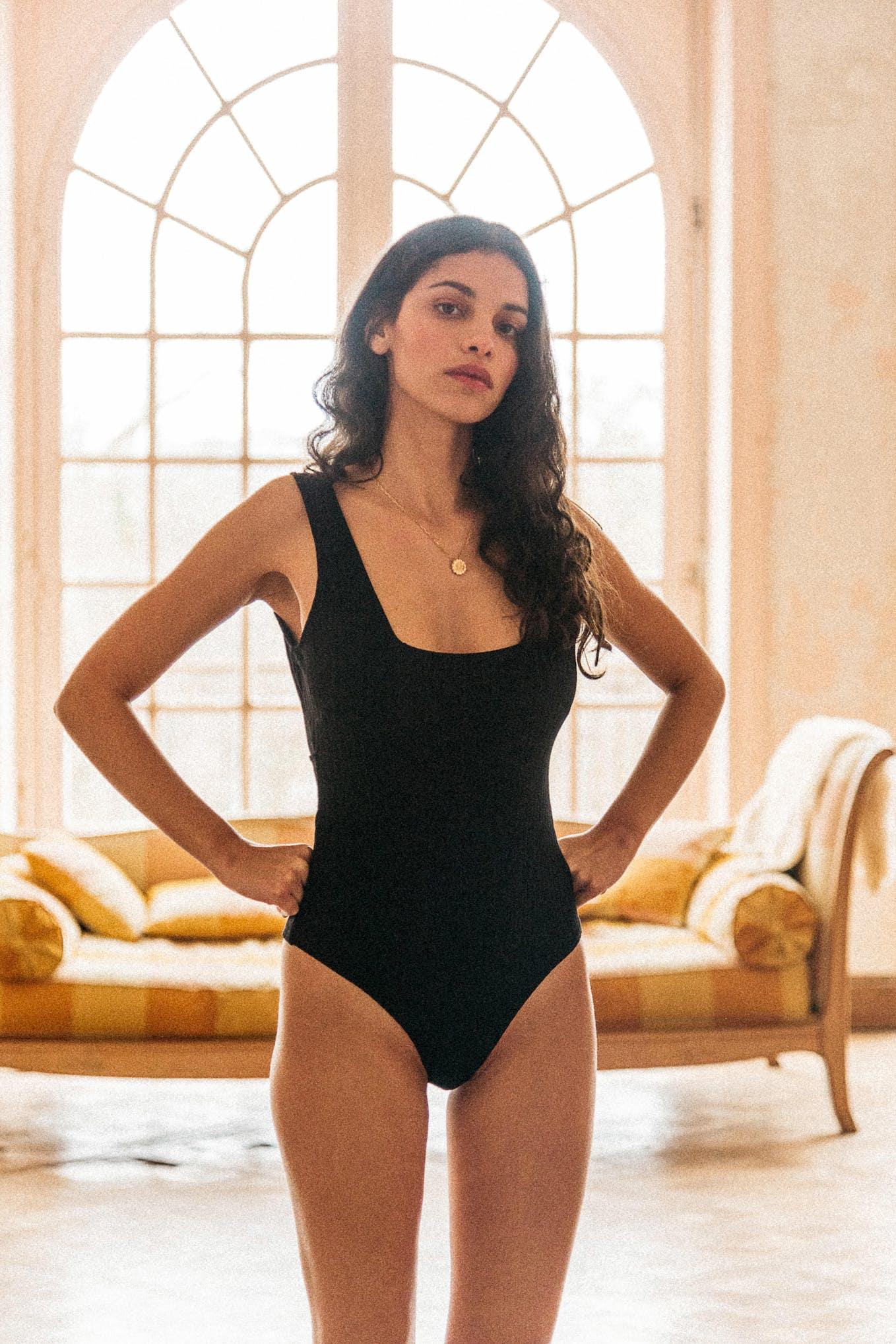 Gaeline Bodysuit in black