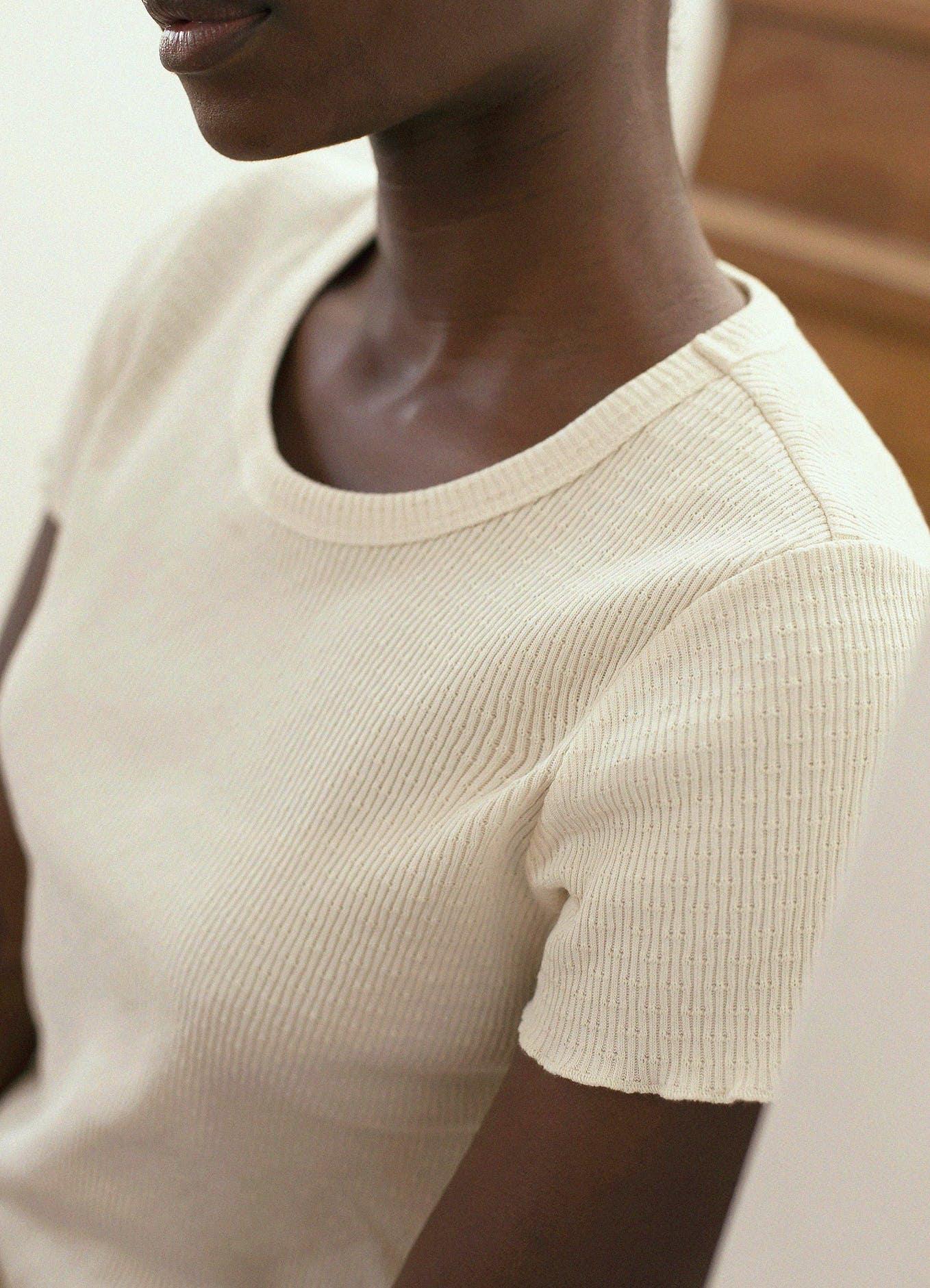 T-shirt Histoire de corps vanille