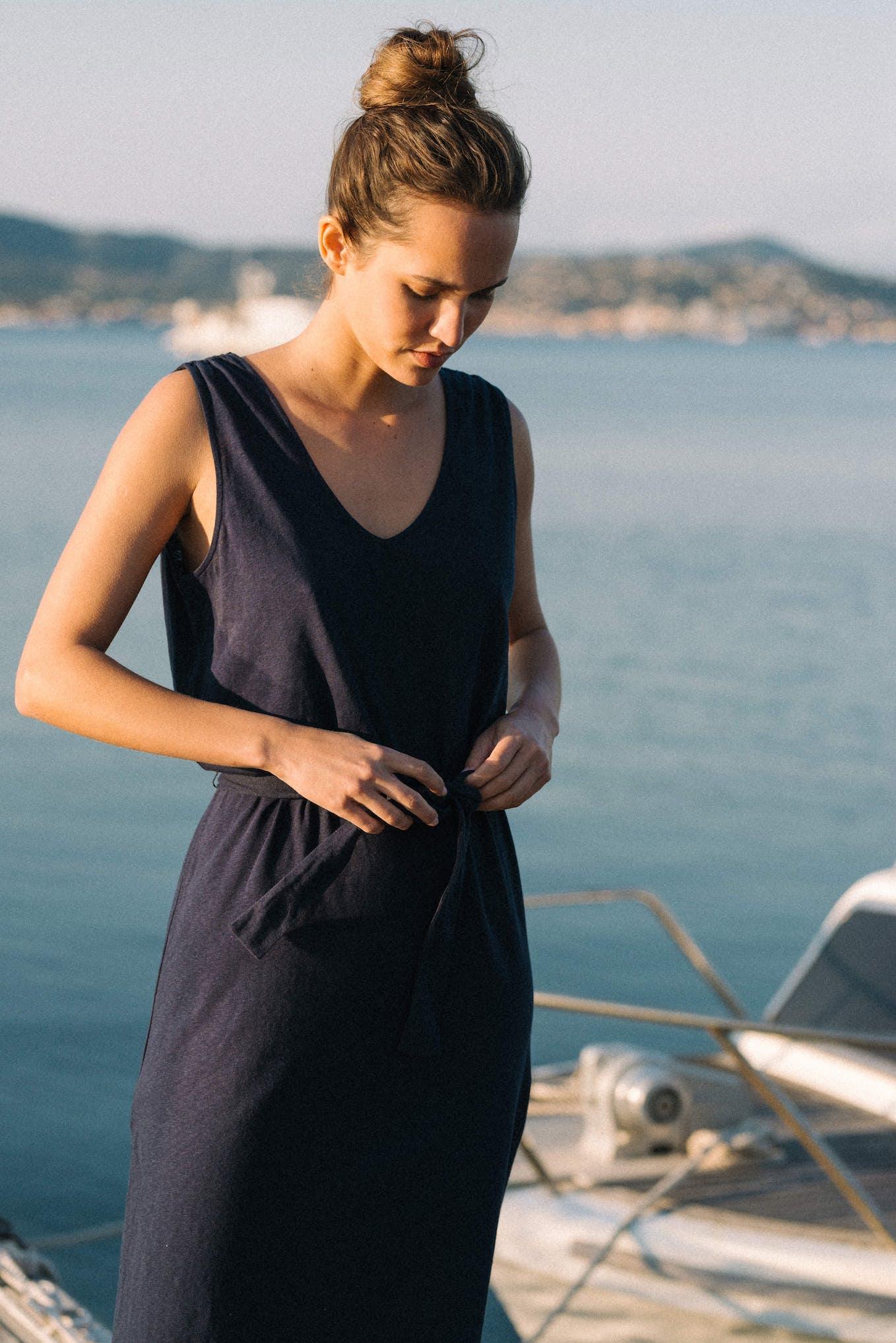 Dress Balade rêveuse in navy blue