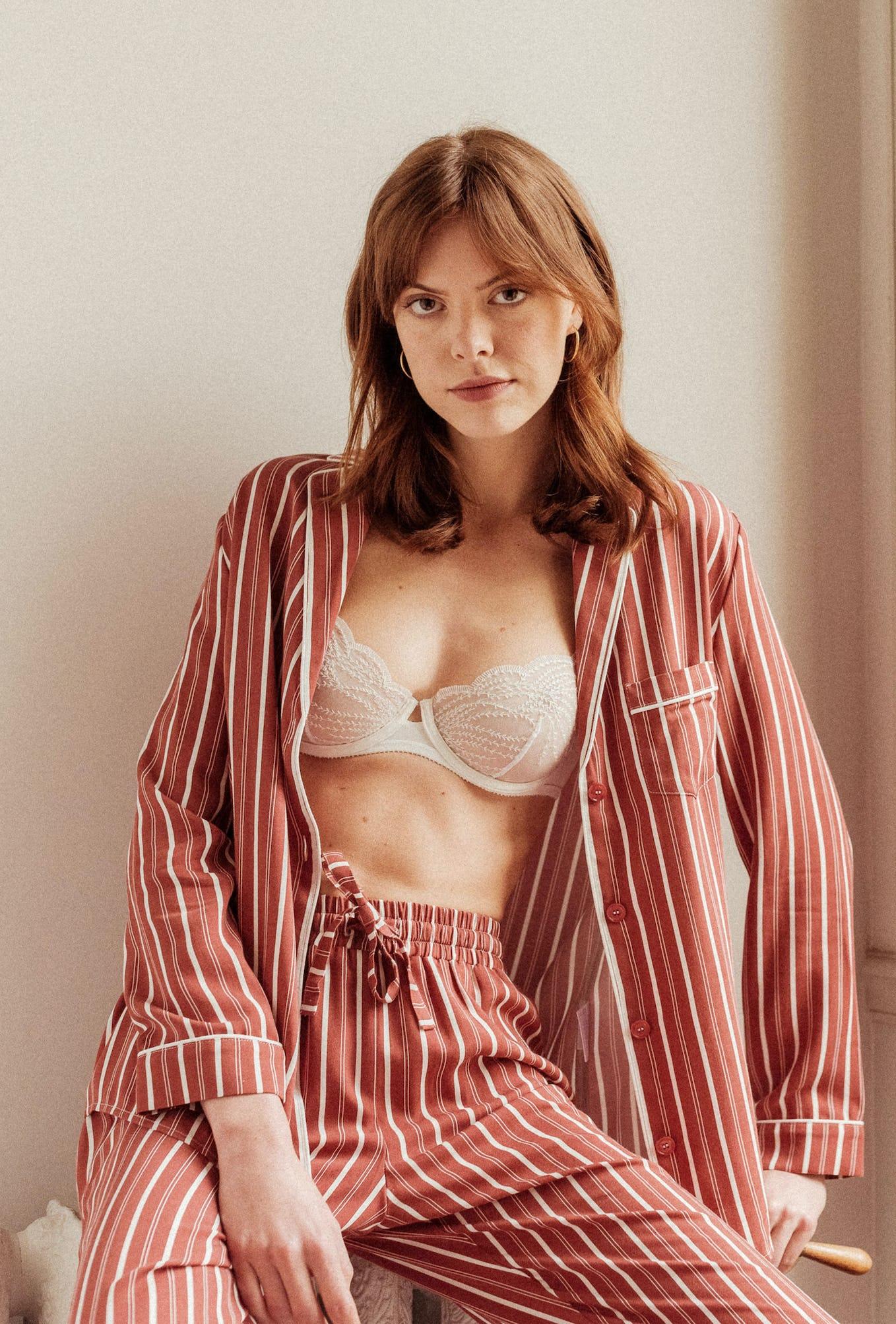 Homewear set with Chérie stripes Songe denuit shirt