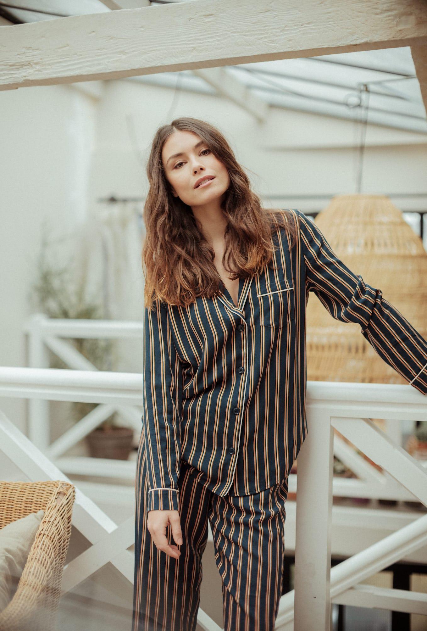 Homewear set Songe de nuit with dandy stripes