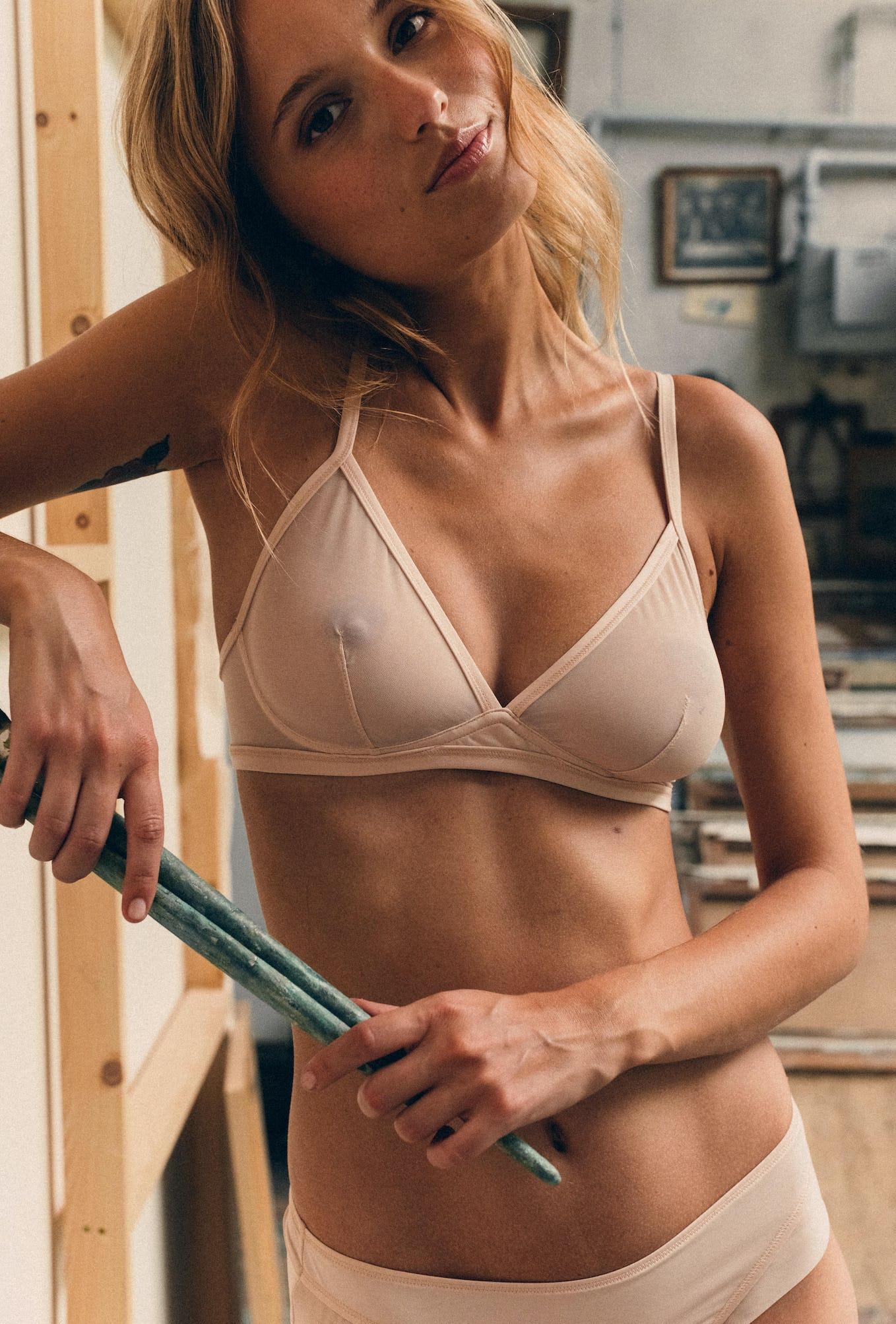 Triangle bra Histoire de femmes powdery pink