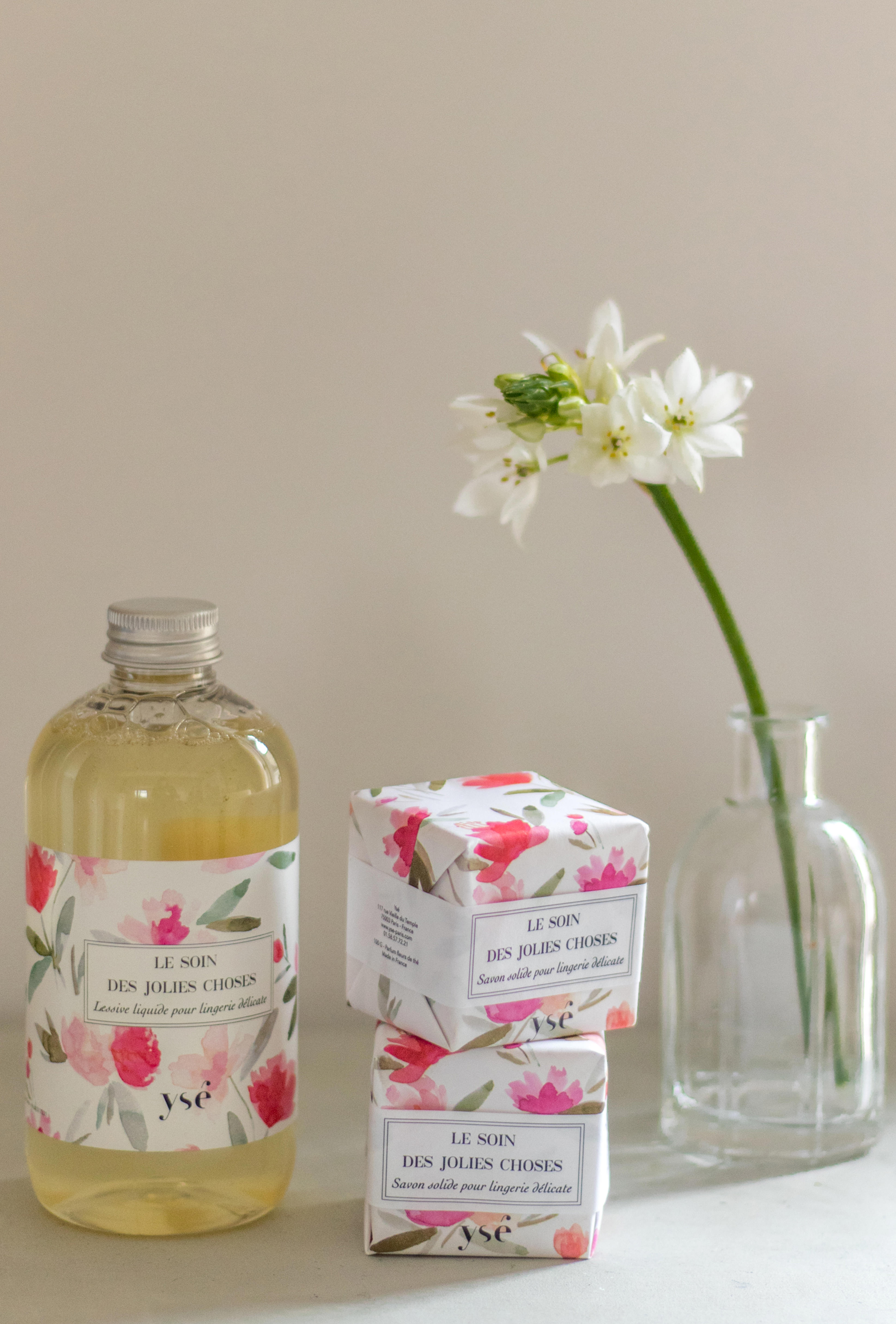 Soft lingerie detergent with gentle solid soap