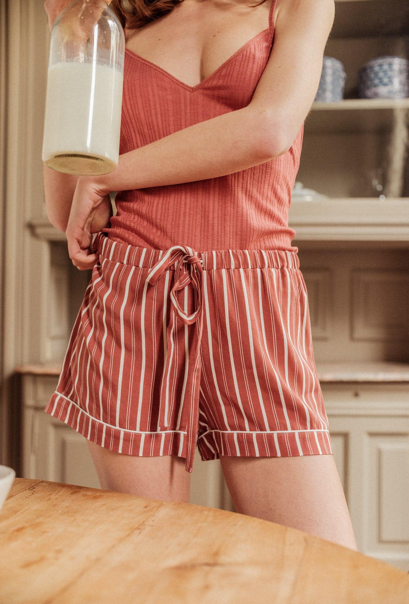 Shorts Chérie stripes Songe de nuit