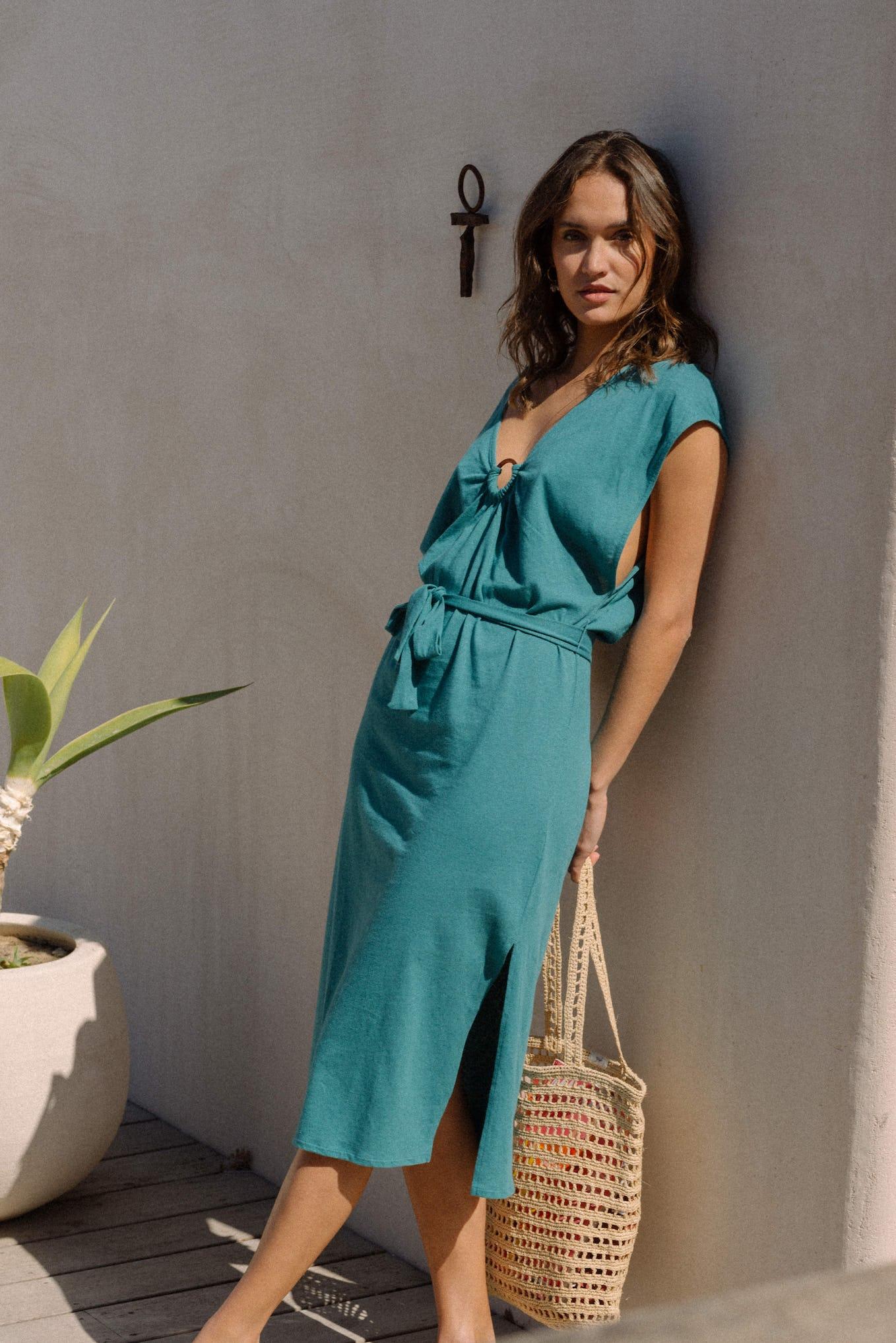 Dress Balade rêveuse in blue lagoon