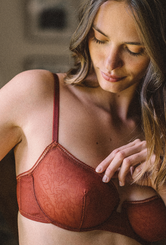 La rosée brown lingerie set