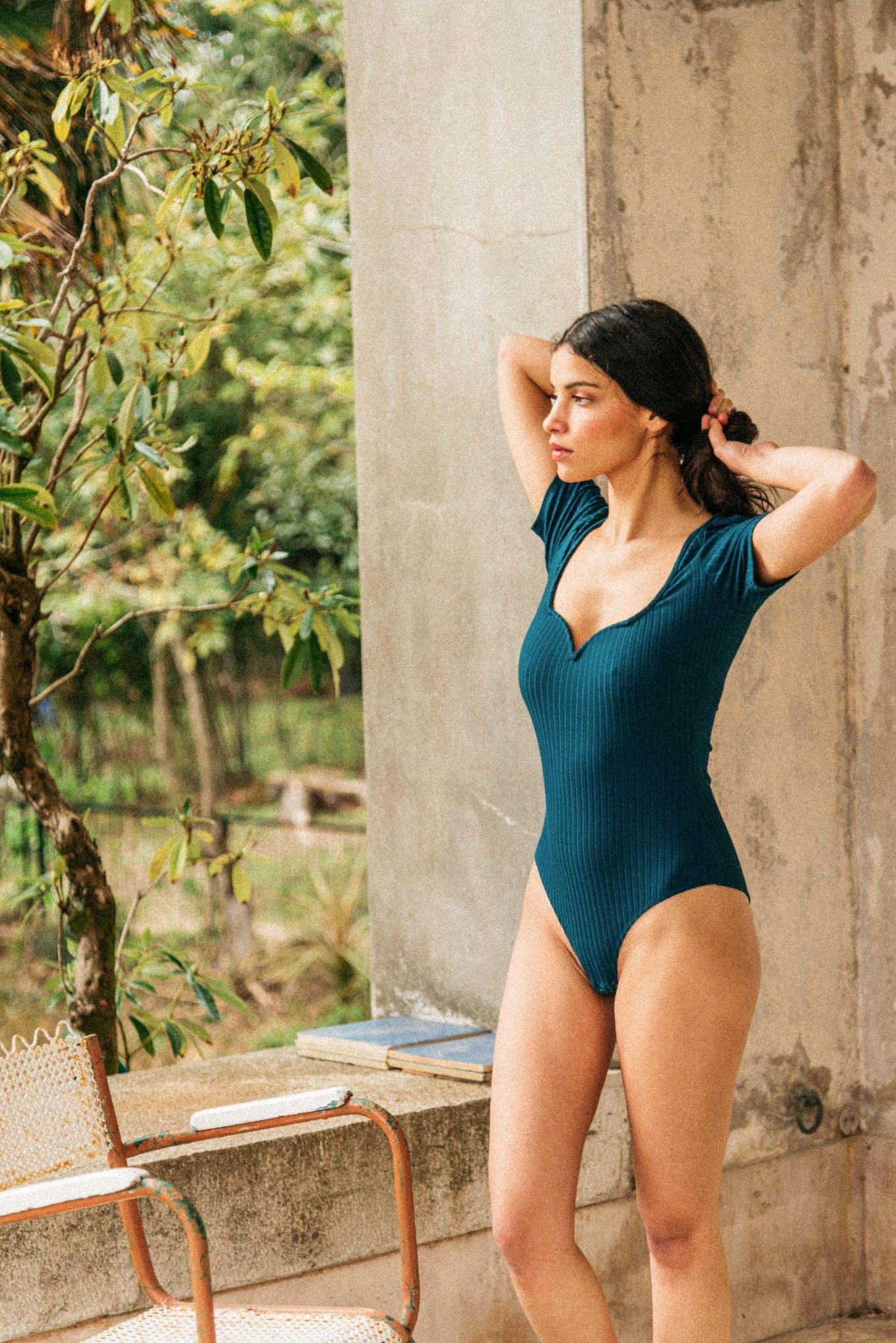 Gaspard Bodysuit in duck blue
