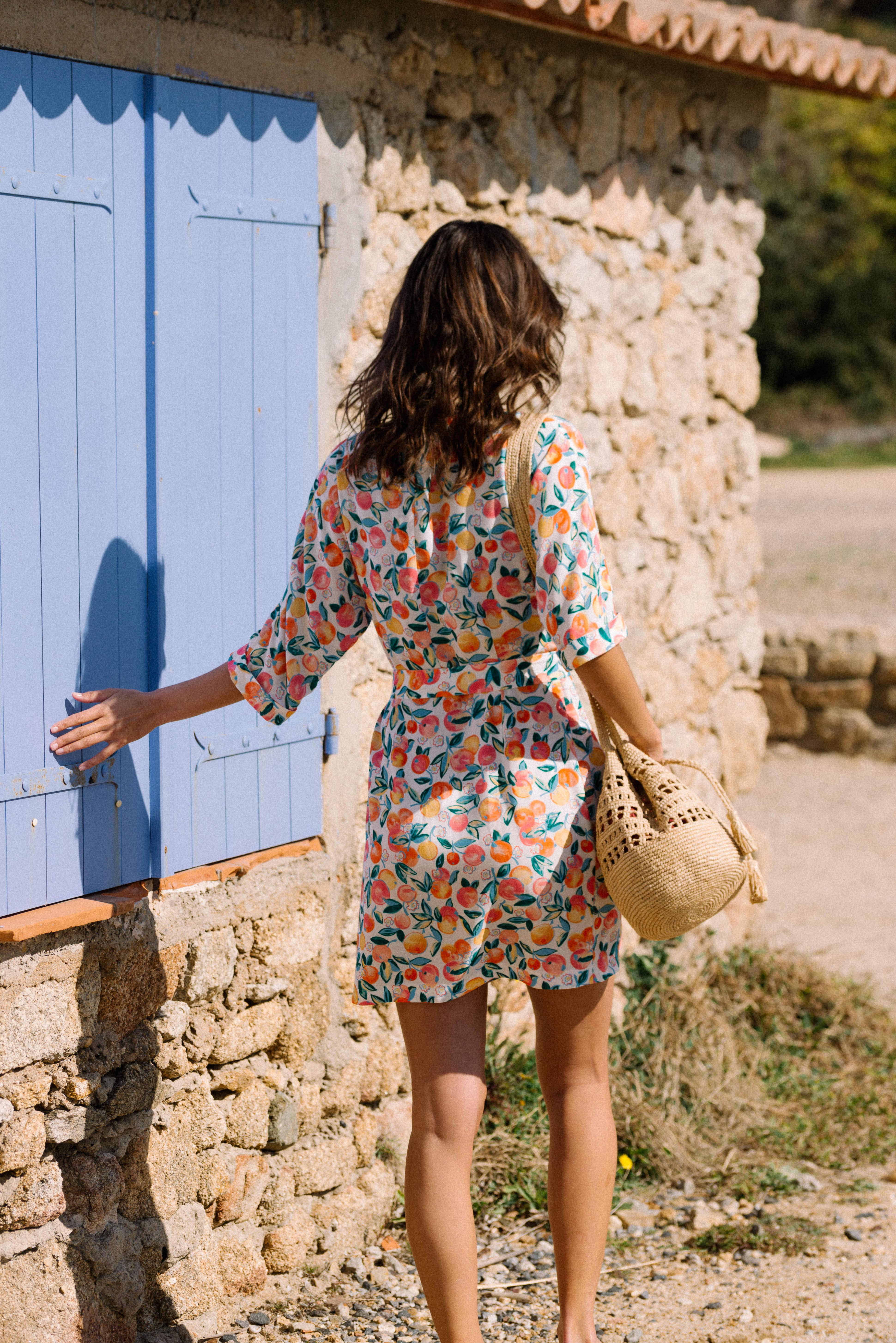 Dress Voyage léger in Tutti frutti print