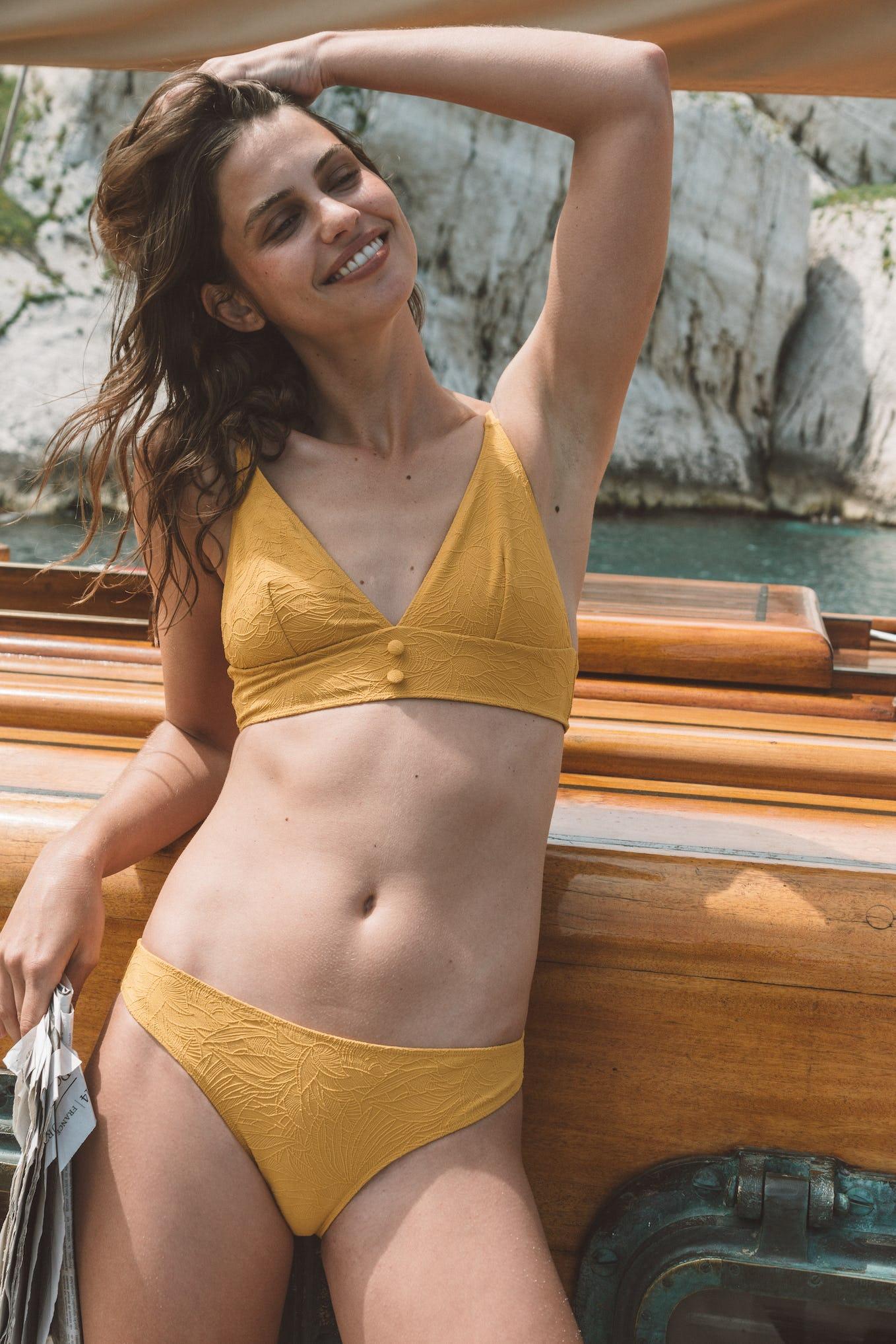 Maillot Rêve ensoleillé jaune tournesol