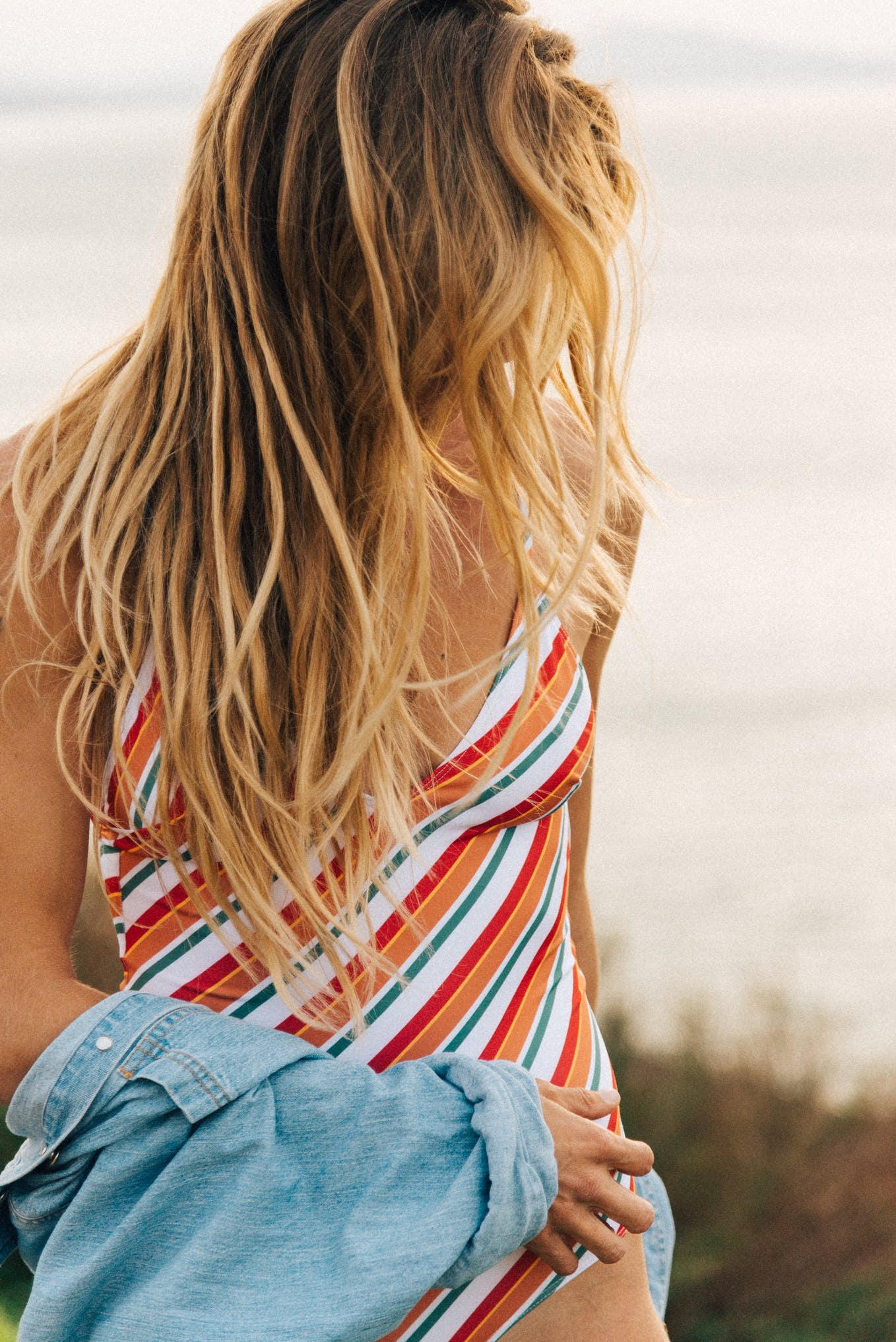 Swimsuit L'été sauvage with stripes