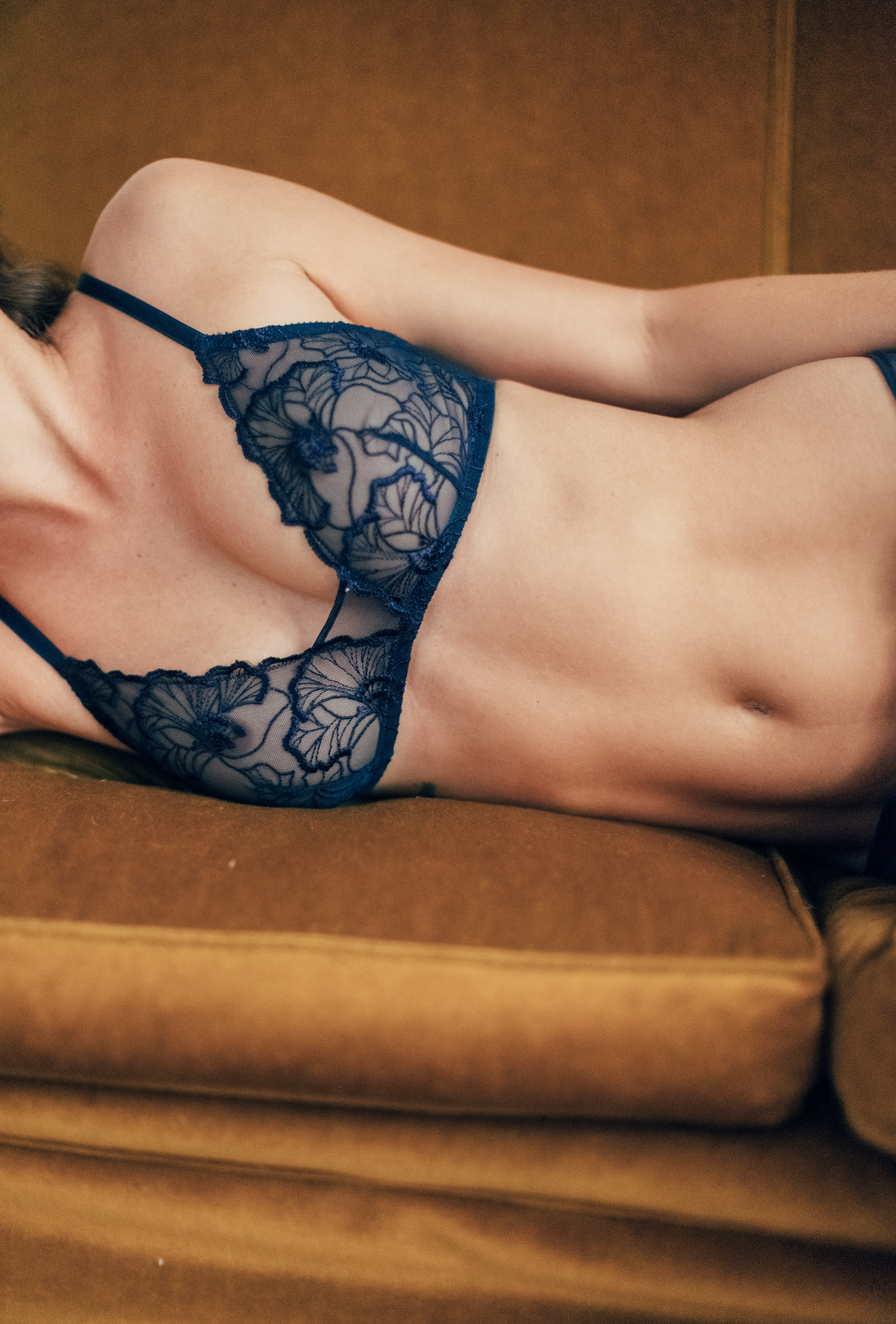 Triangle bra Source d'amour navy blue
