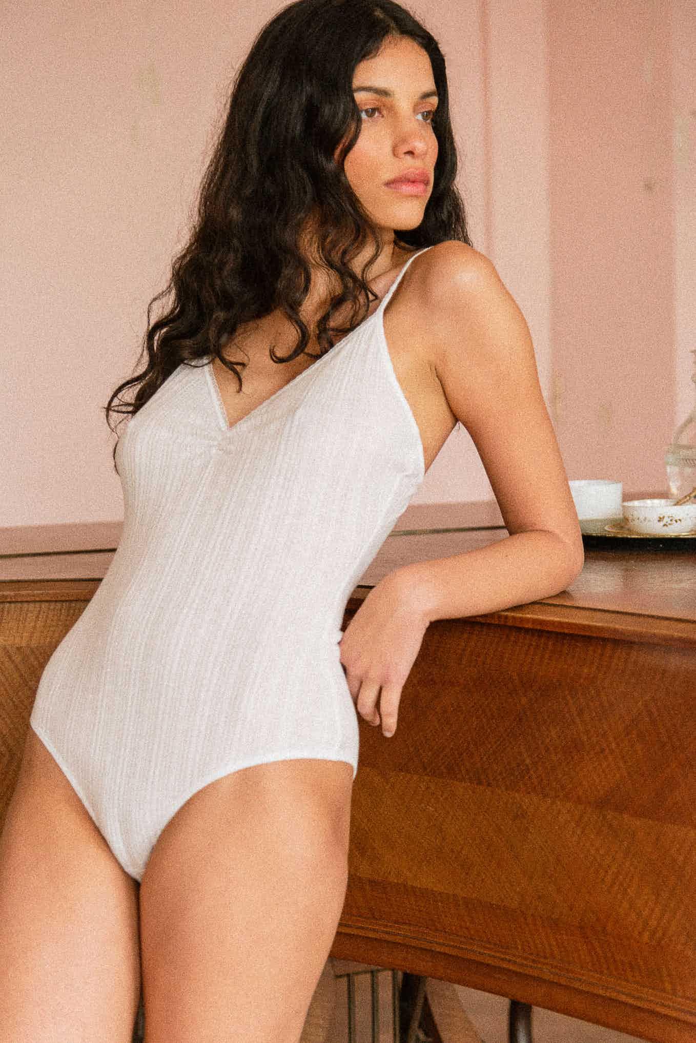 Tania Bodysuit in ivory