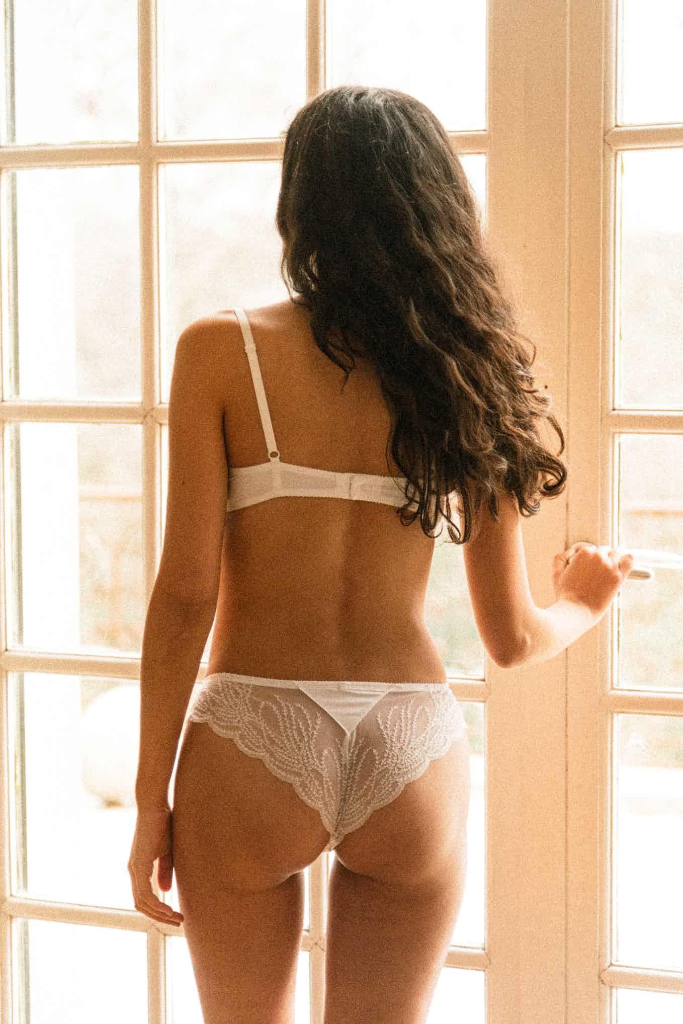 Ensemble de lingerie Pensée du matin en ivoire
