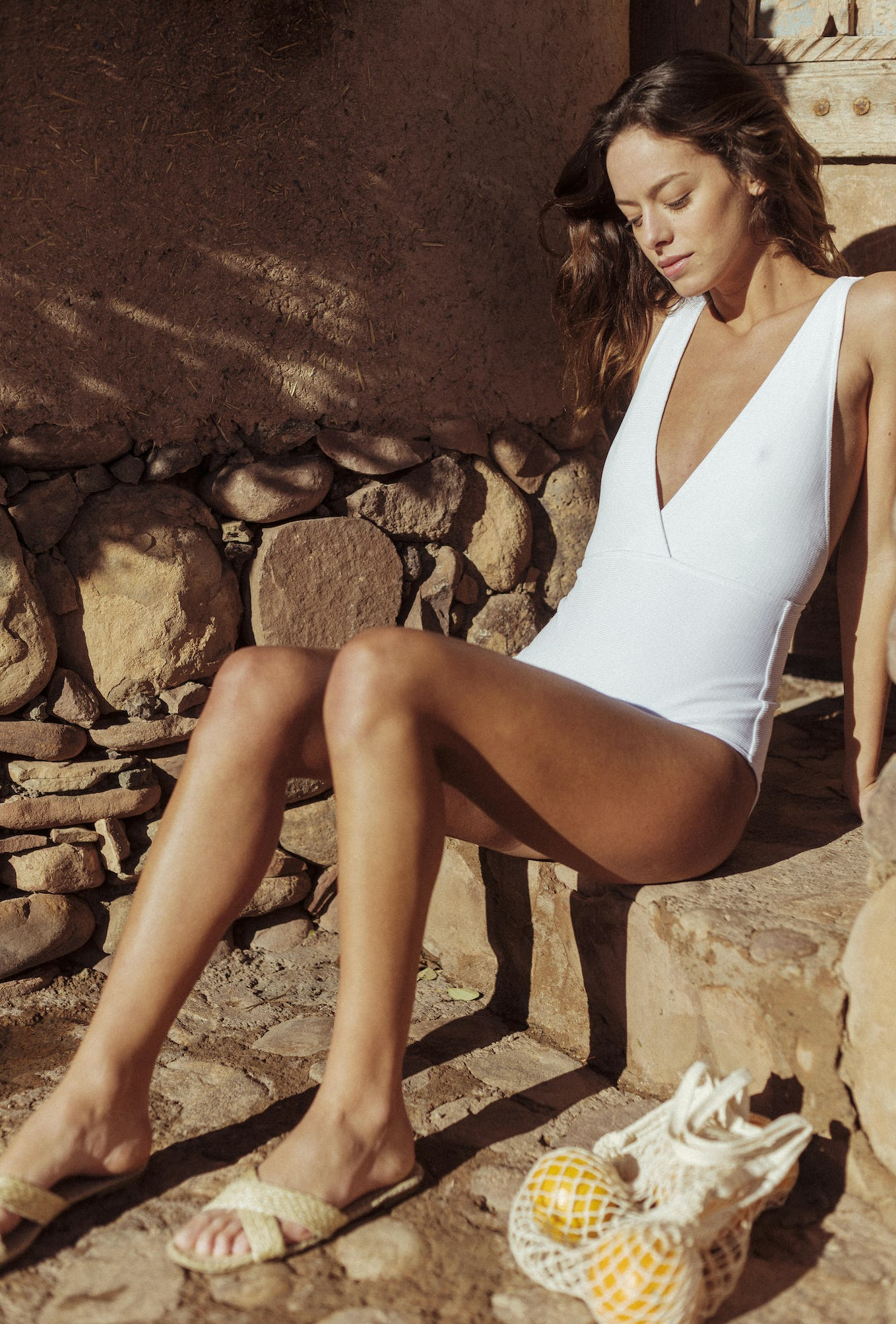 Paradis Terrestre One pice swimsuit in white