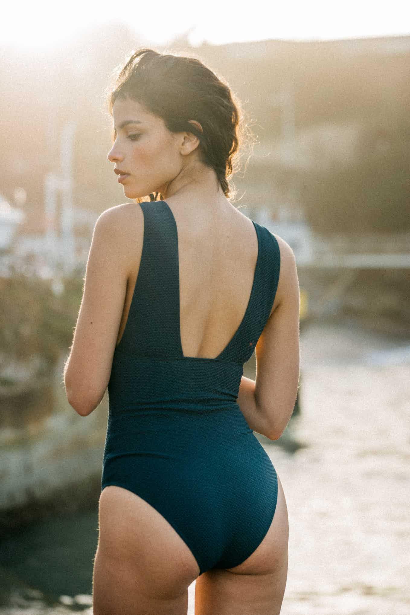 One piece swimsuit Rêve d'horizon in Petrol blue