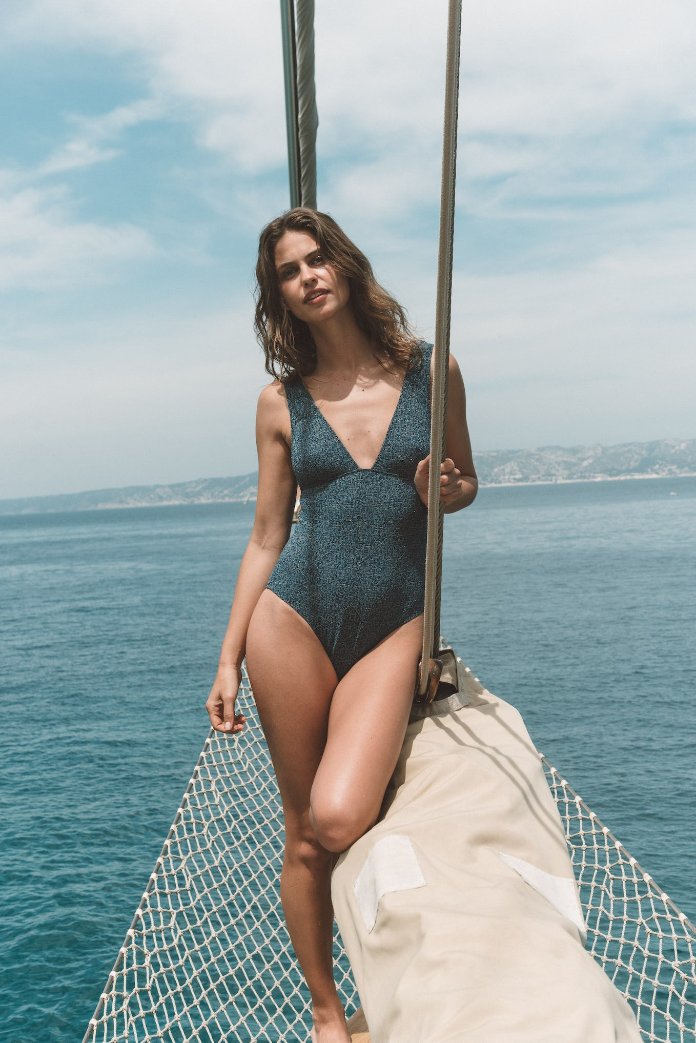 Swimsuit Rêve d'horizon blue and gold