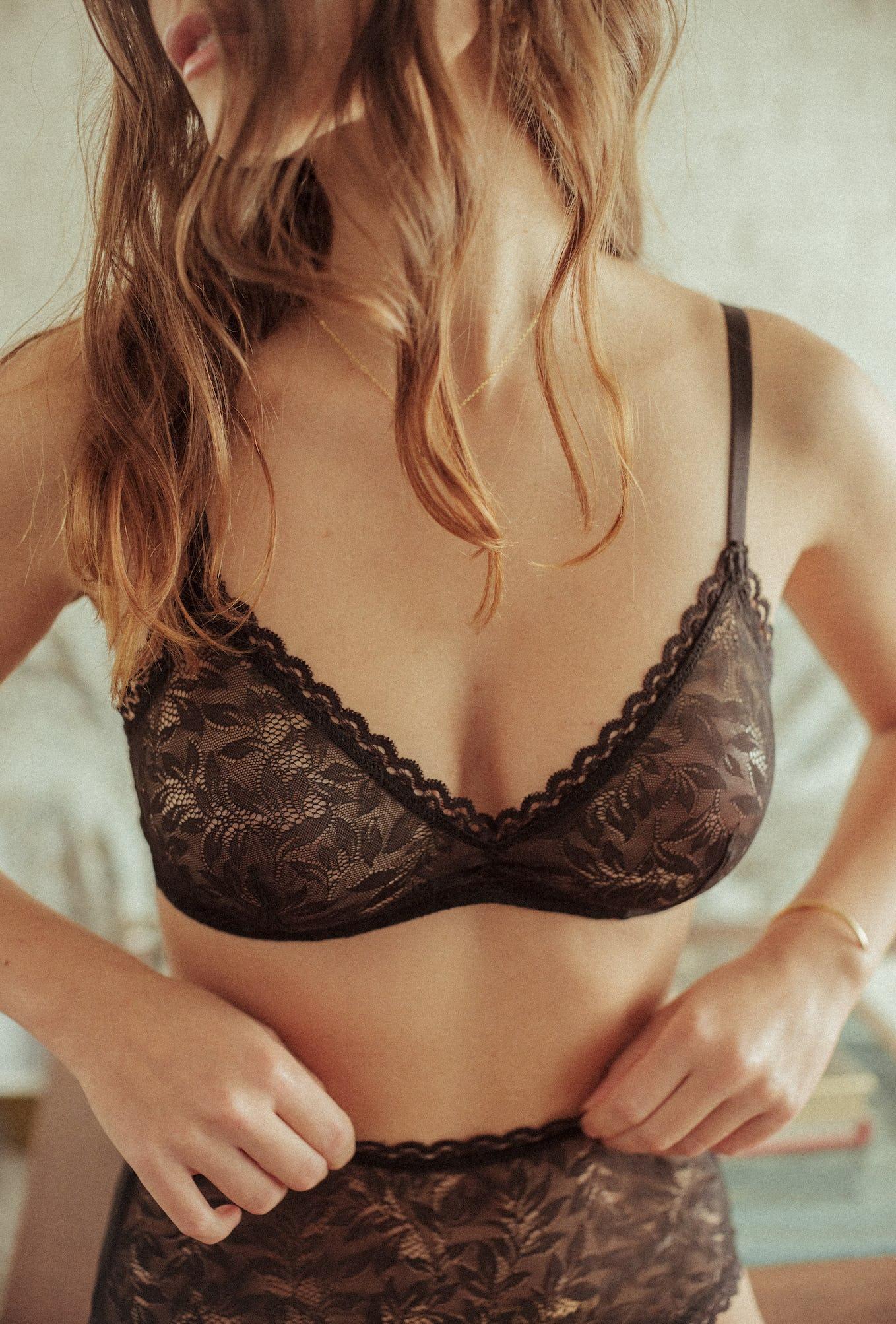 Les flots du coeur Triangle bra in black