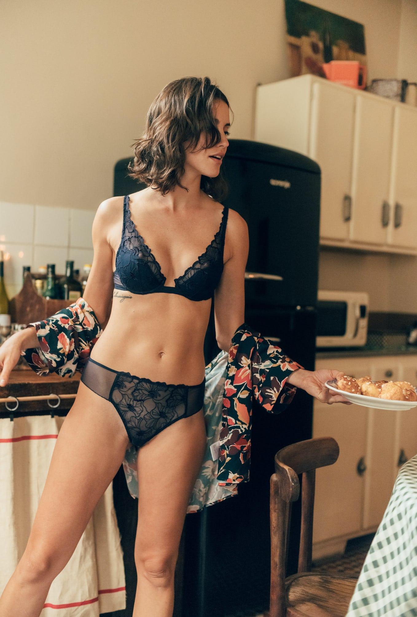 Ensemble lingerie Source d'amour marine