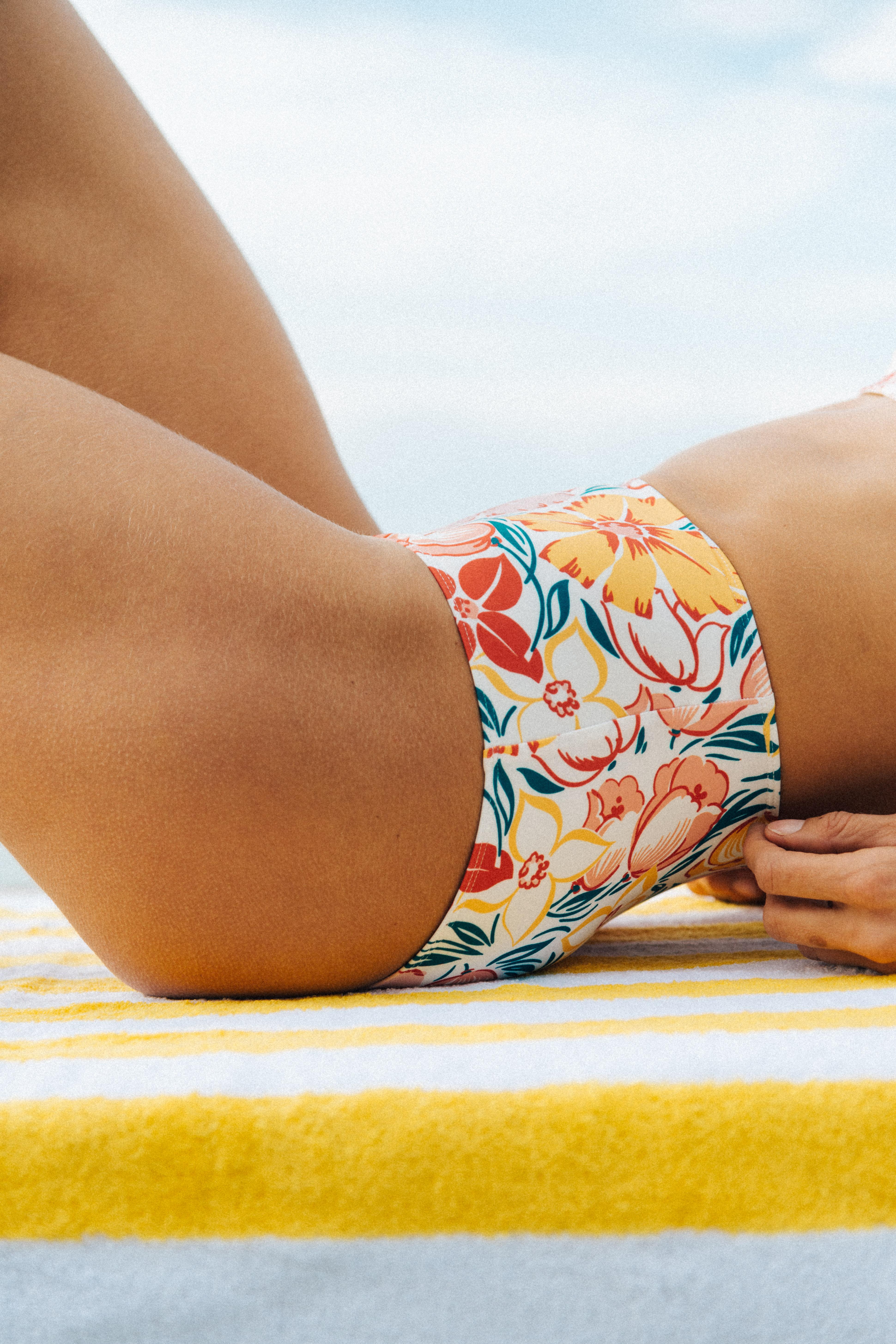 Bikini Rêve d'horizon with Biarritz print