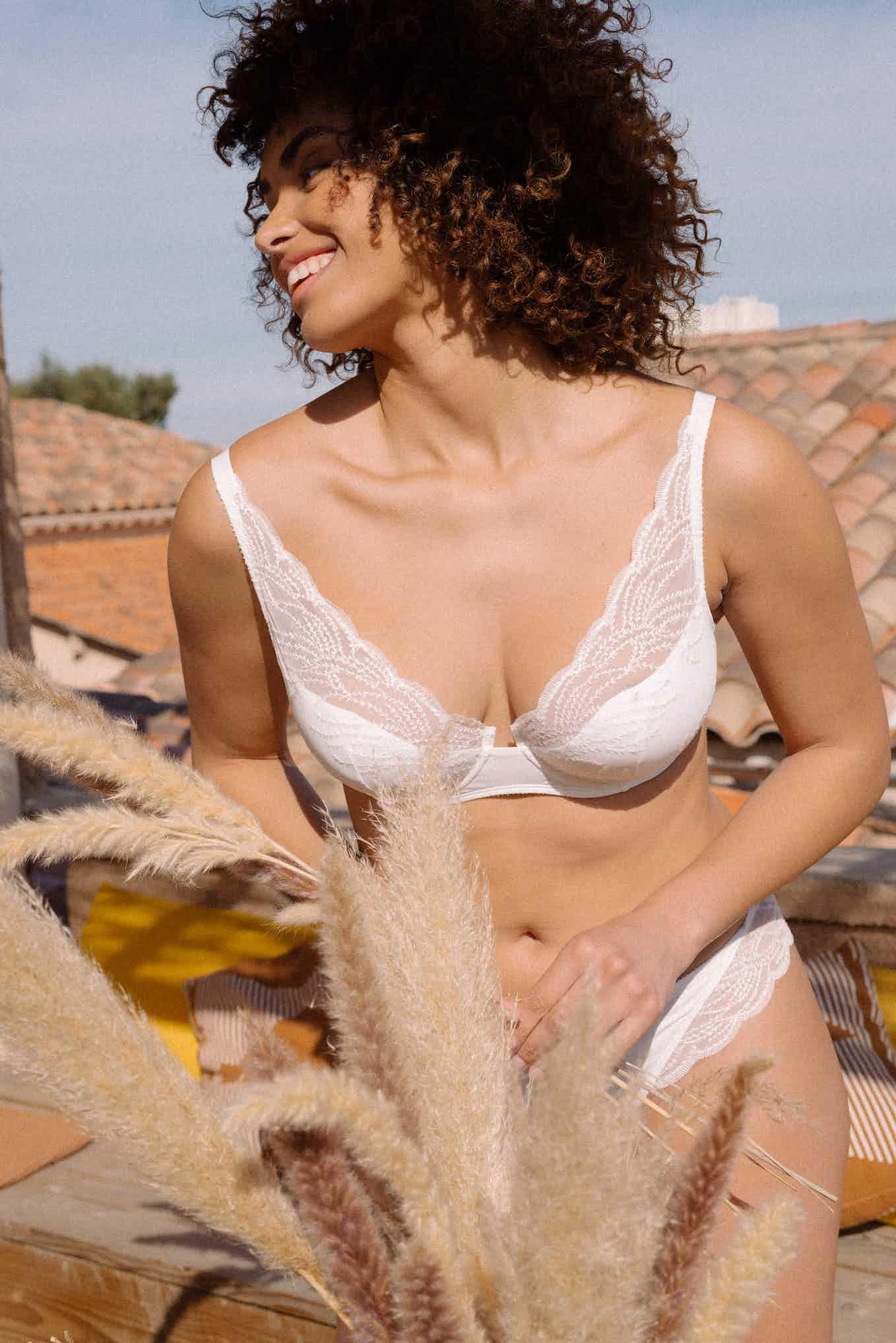 Ensemble de lingerie Pensée du matin ivoire