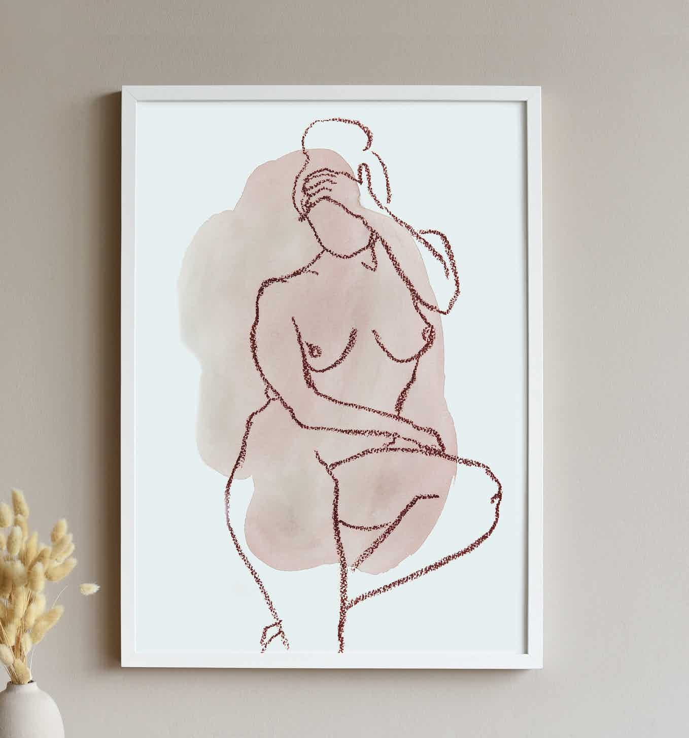 affiche femme assise