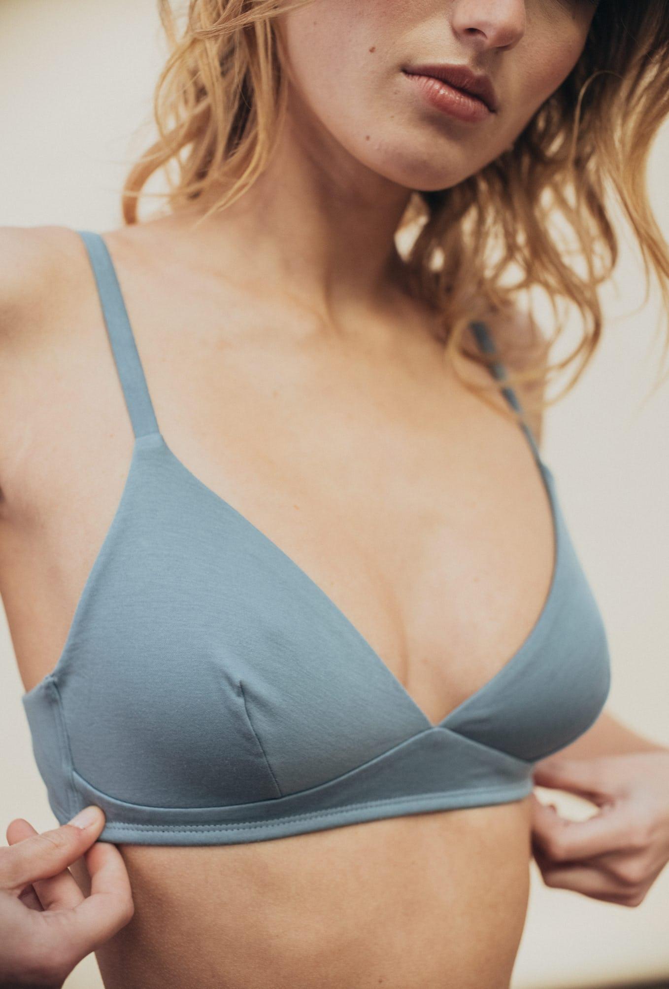 Triangle bra à fleur de peau storm