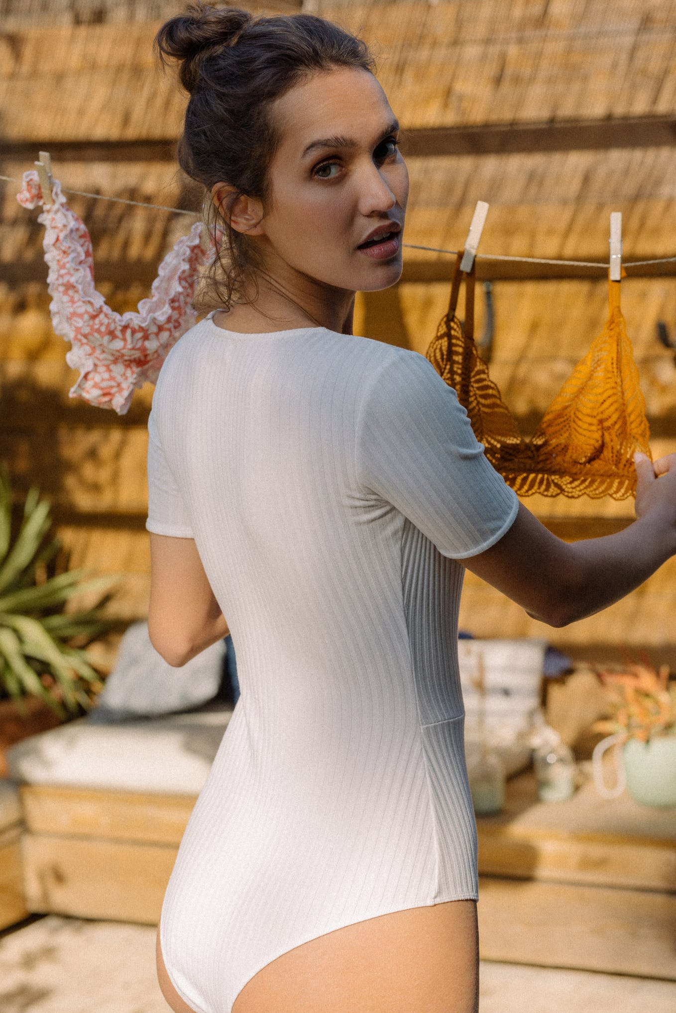 Gaia Bodysuit in ivory